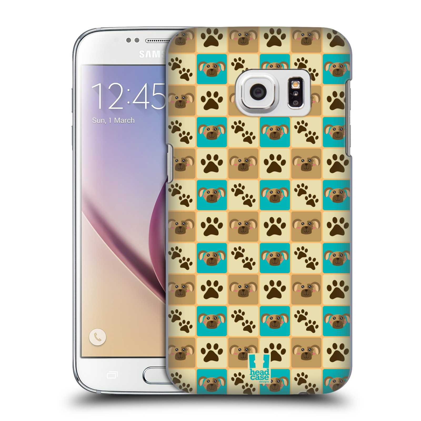 HEAD CASE plastový obal na mobil SAMSUNG GALAXY S7 vzor Zvířecí razítka PSÍ TLAPKA