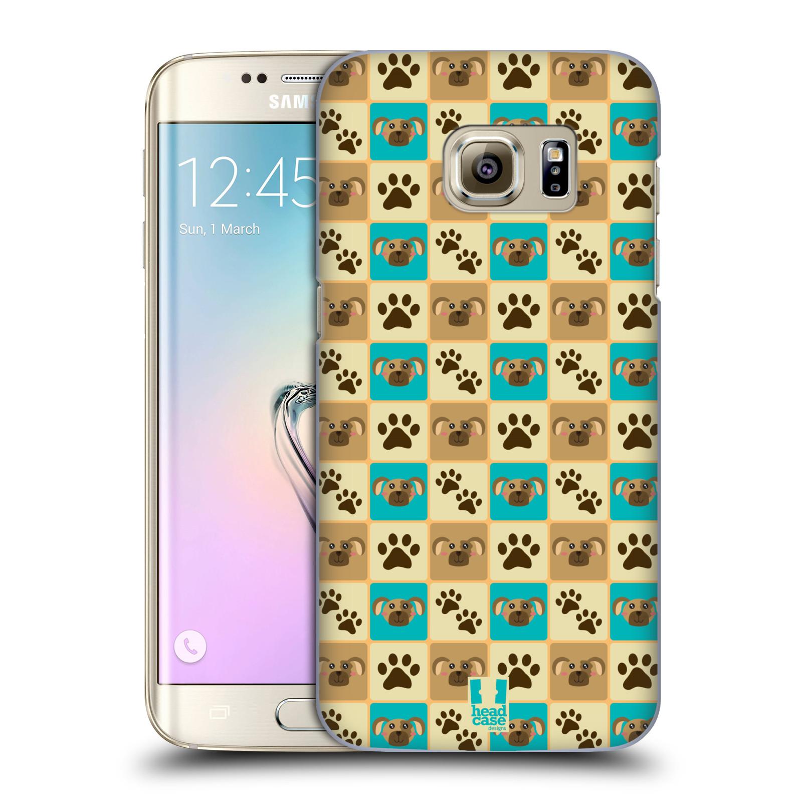 HEAD CASE plastový obal na mobil SAMSUNG GALAXY S7 EDGE vzor Zvířecí razítka PSÍ TLAPKA