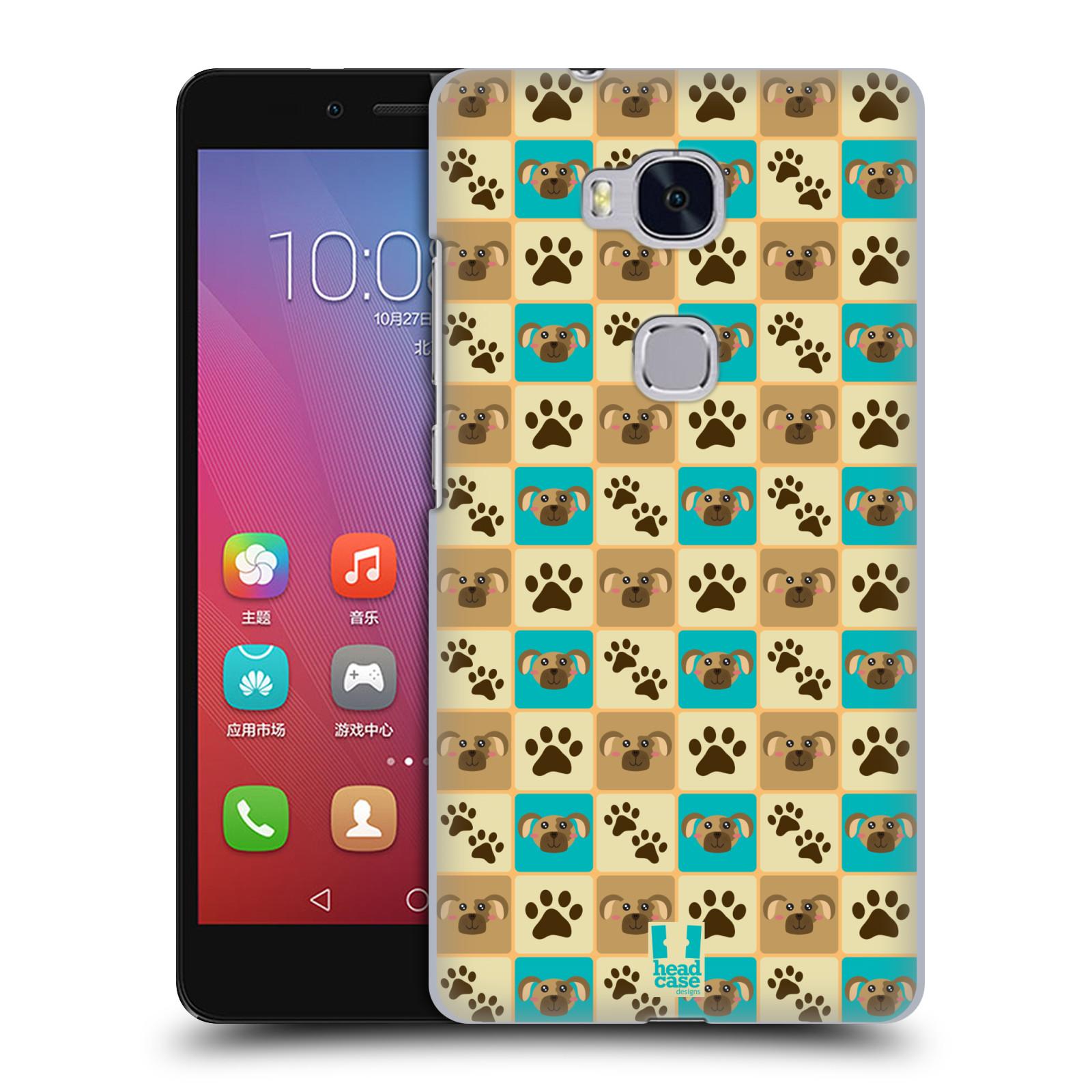 HEAD CASE pevný plastový obal na mobil HUAWEI HONOR 5X vzor Zvířecí razítka PSÍ TLAPKA