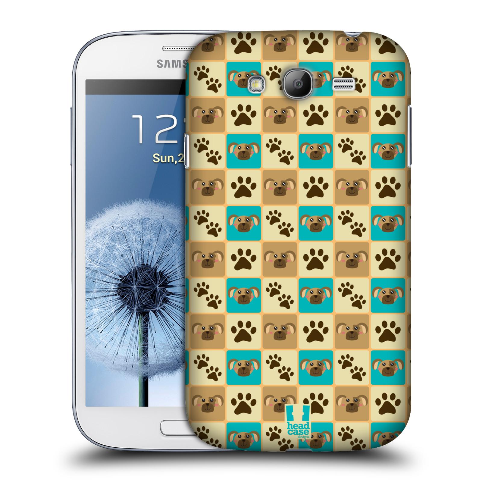 HEAD CASE plastový obal na mobil SAMSUNG GALAXY Grand i9080 vzor Zvířecí razítka PSÍ TLAPKA