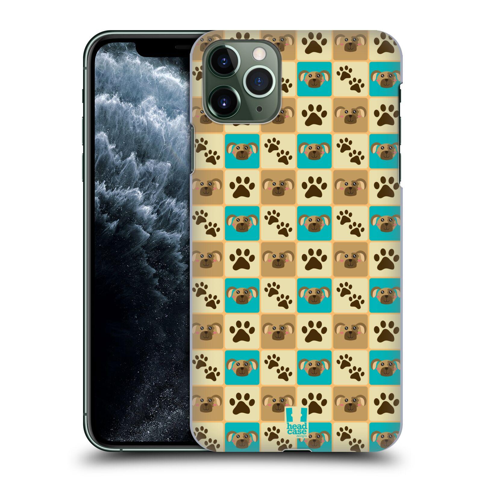 Pouzdro na mobil Apple Iphone 11 PRO MAX - HEAD CASE - vzor Zvířecí razítka PSÍ TLAPKA