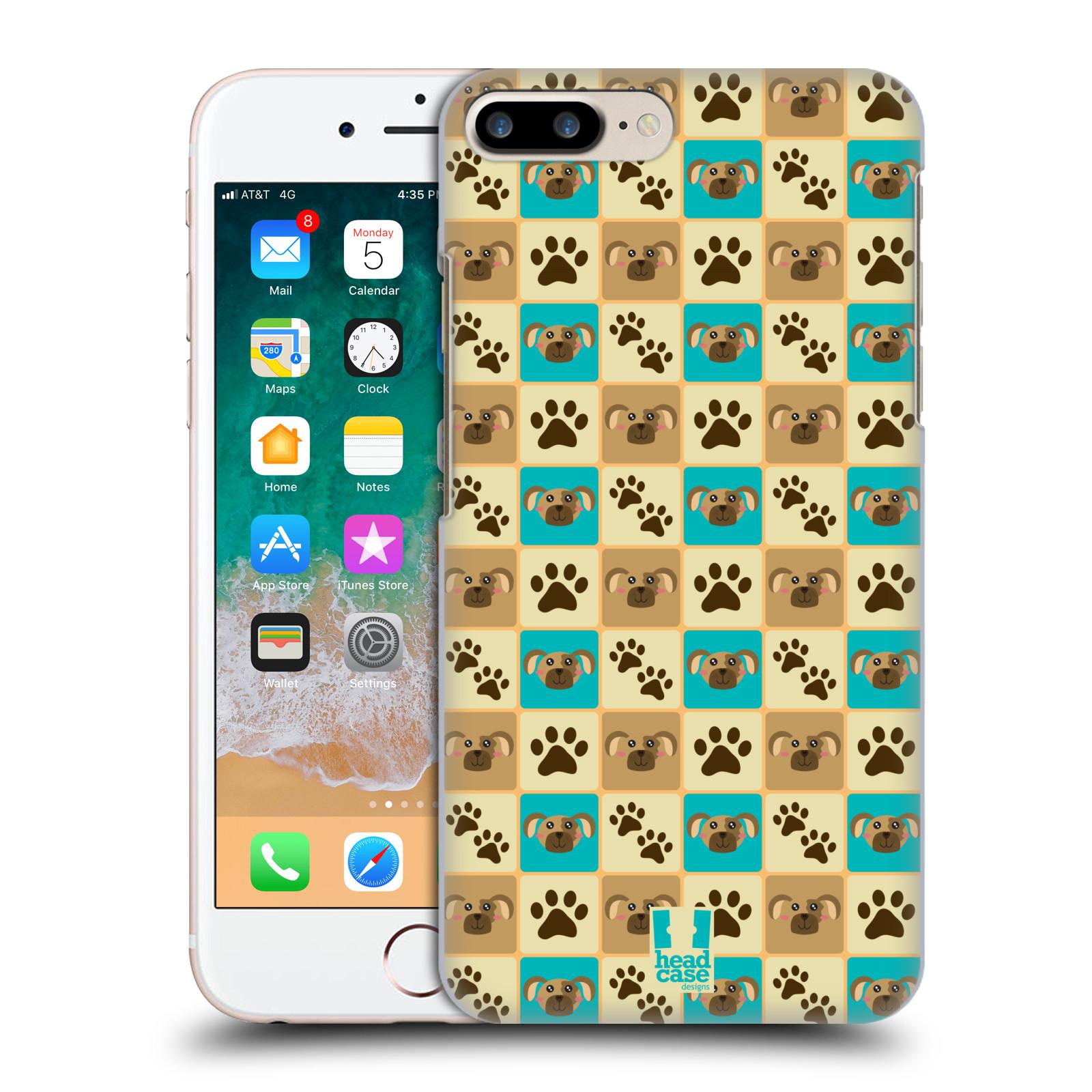 HEAD CASE plastový obal na mobil Apple Iphone 7 PLUS vzor Zvířecí razítka PSÍ TLAPKA