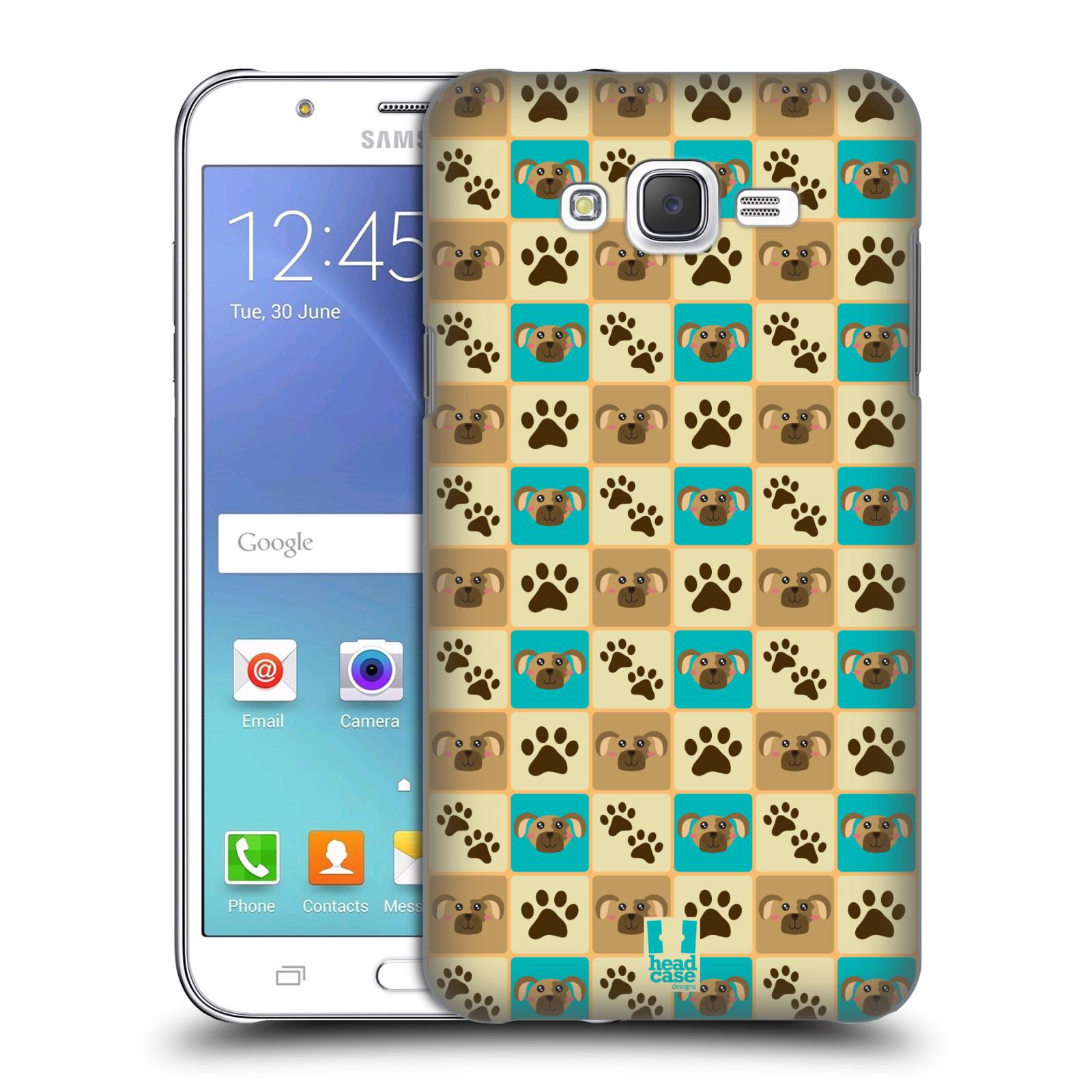 HEAD CASE plastový obal na mobil SAMSUNG Galaxy J7, J700 vzor Zvířecí razítka PSÍ TLAPKA