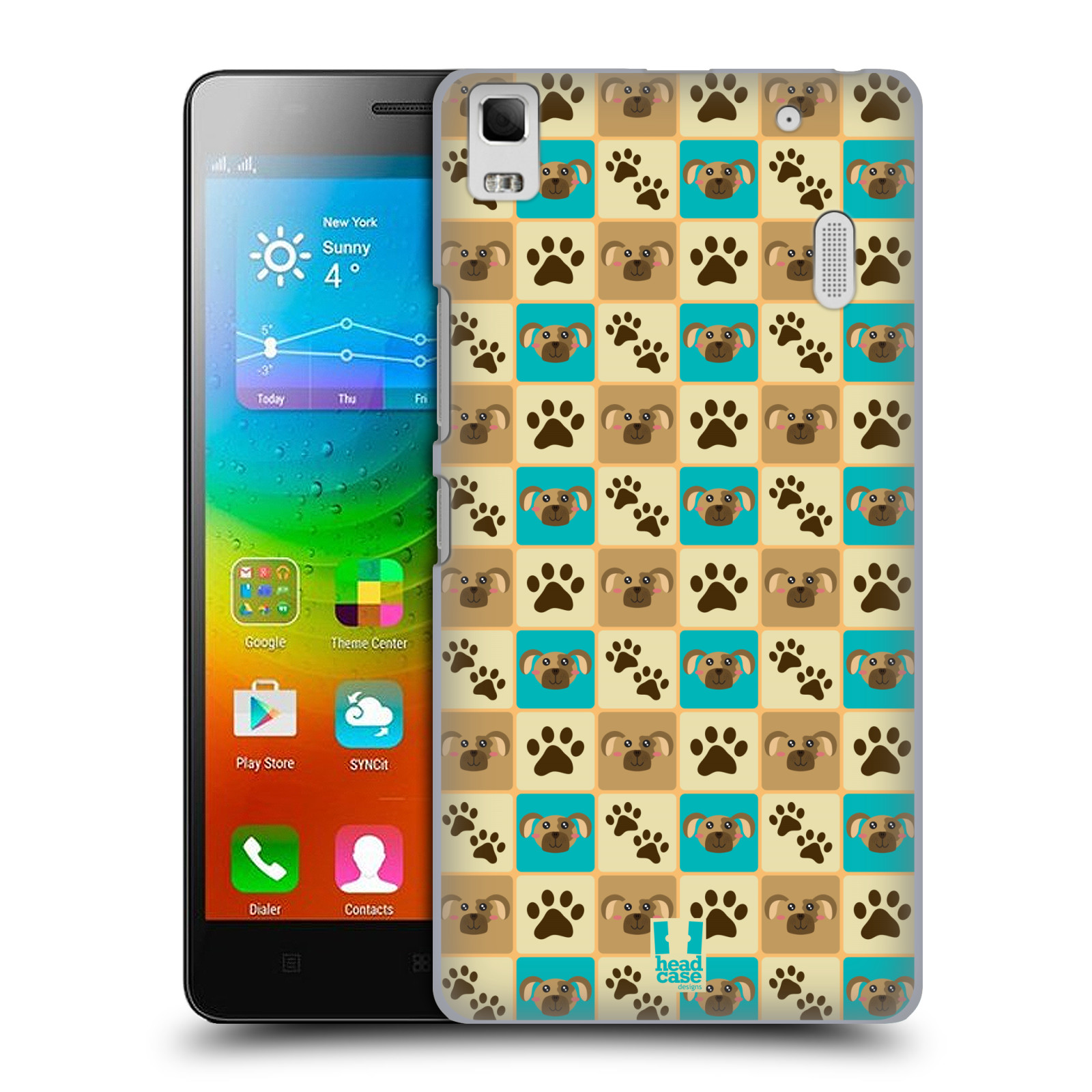 HEAD CASE pevný plastový obal na mobil LENOVO A7000 / A7000 DUAL / K3 NOTE vzor Zvířecí razítka PSÍ TLAPKA