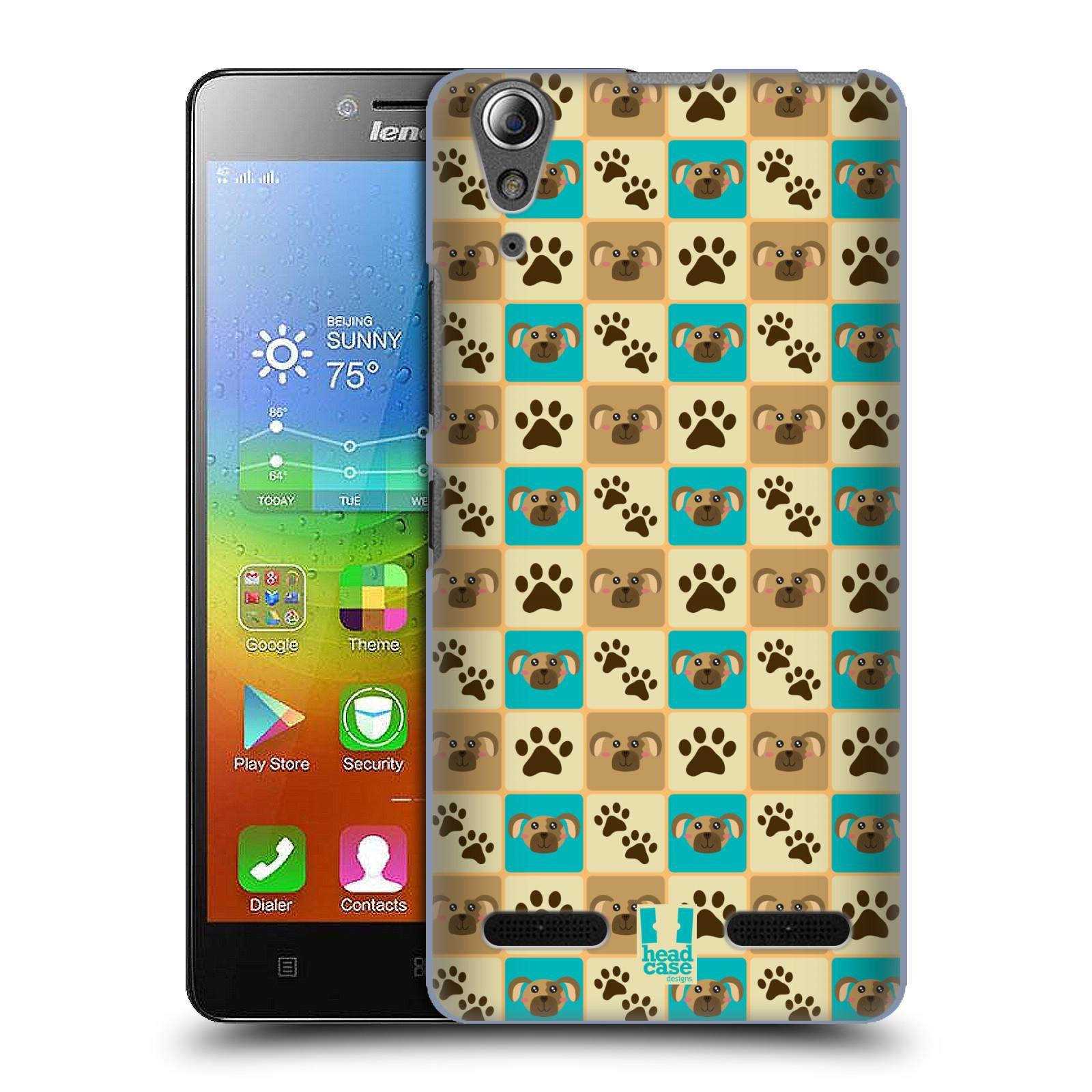 HEAD CASE pevný plastový obal na mobil LENOVO A6000 / A6000 PLUS vzor Zvířecí razítka PSÍ TLAPKA