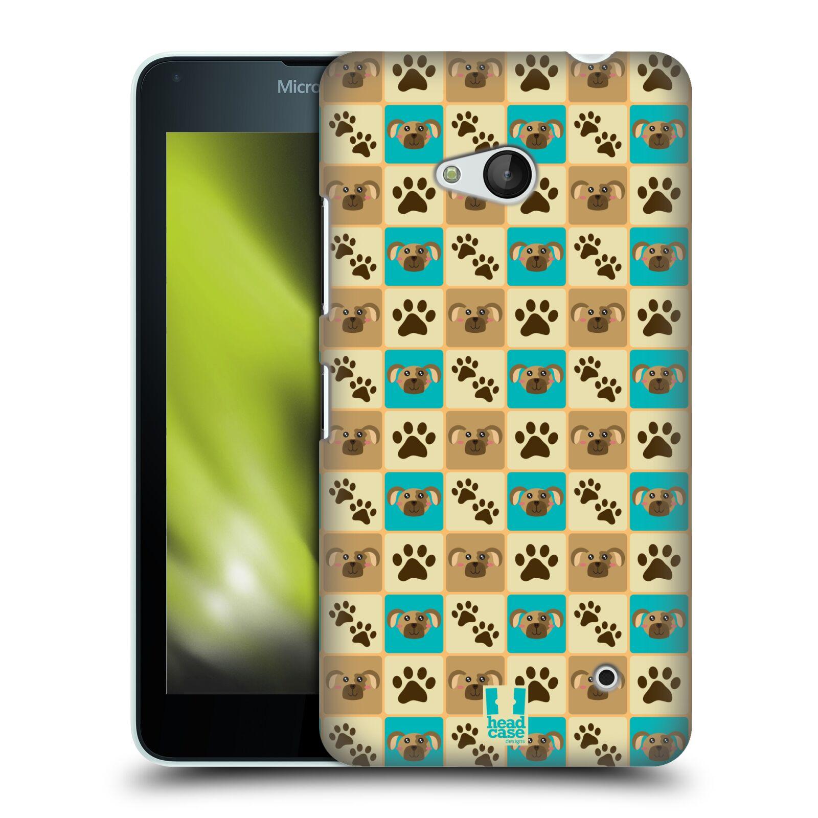 HEAD CASE plastový obal na mobil Nokia Lumia 640 vzor Zvířecí razítka PSÍ TLAPKA