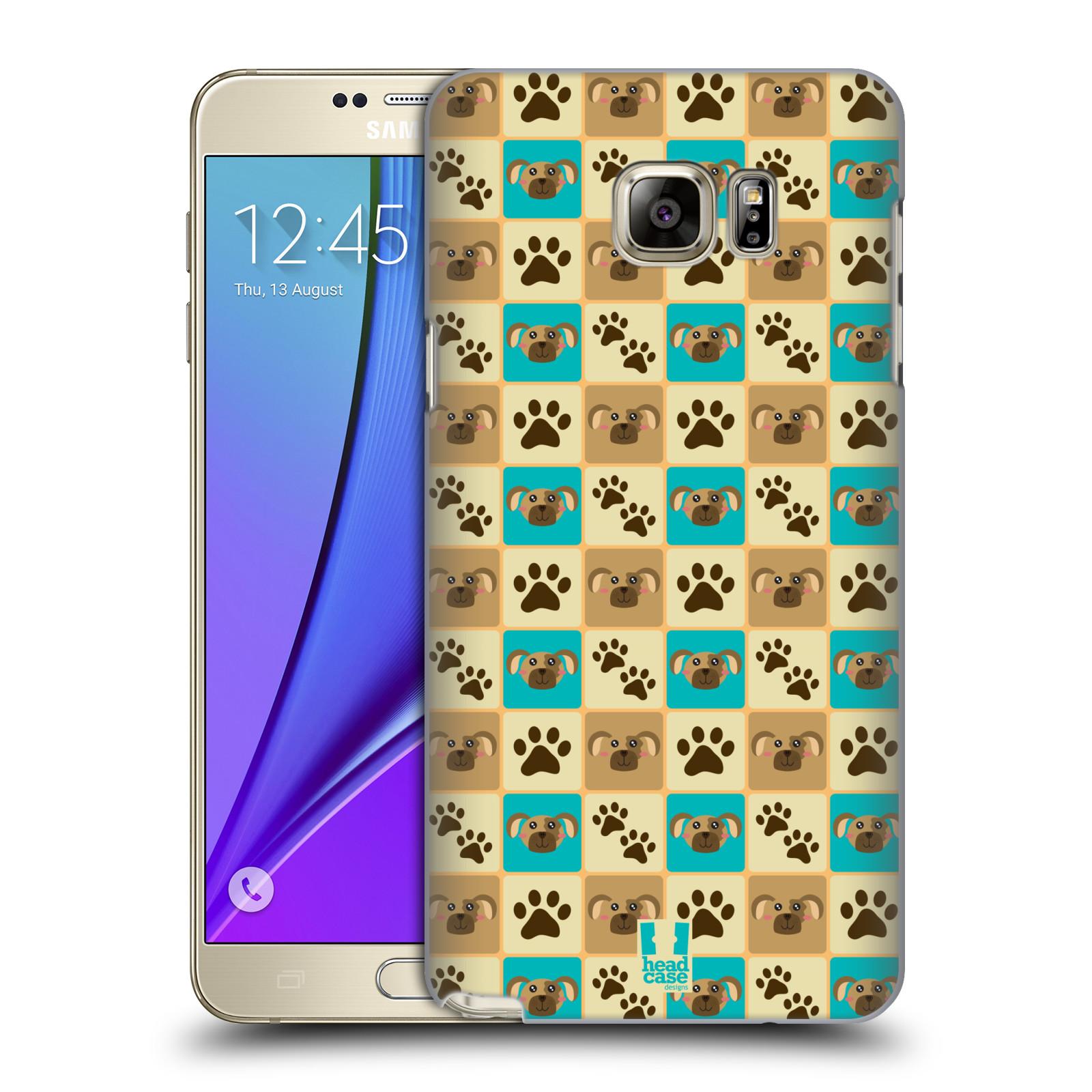 HEAD CASE plastový obal na mobil SAMSUNG Galaxy Note 5 (N920) vzor Zvířecí razítka PSÍ TLAPKA