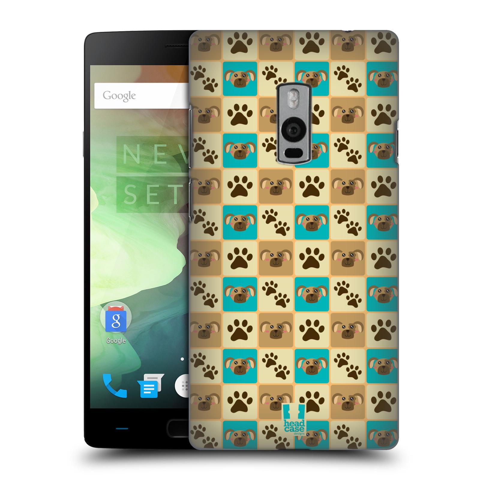 HEAD CASE pevný plastový obal na mobil OnePlus 2  ( TWO ) vzor Zvířecí razítka PSÍ TLAPKA
