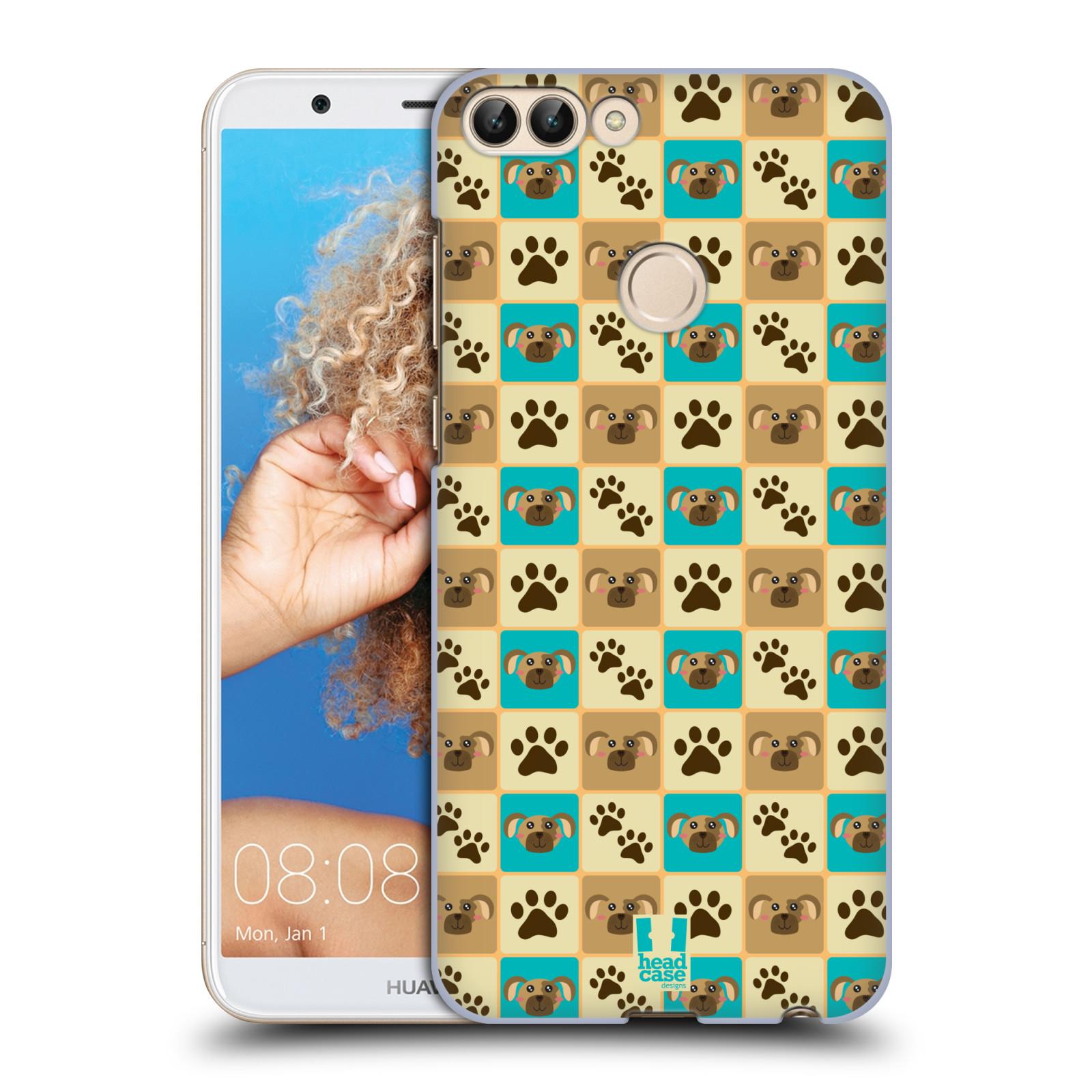 HEAD CASE plastový obal na mobil Huawei P Smart vzor Zvířecí razítka PSÍ TLAPKA
