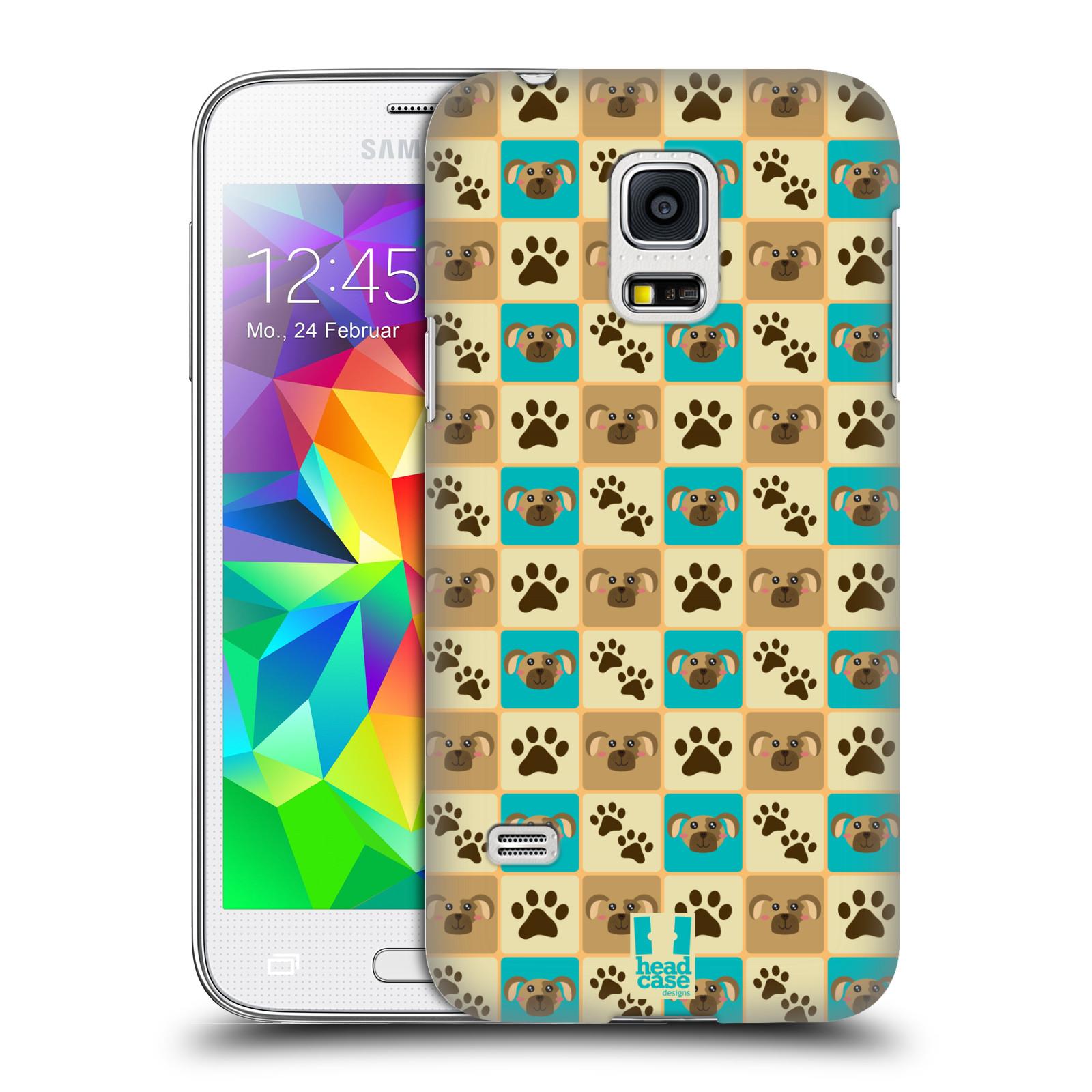 HEAD CASE plastový obal na mobil SAMSUNG Galaxy S5 MINI / S5 MINI DUOS vzor Zvířecí razítka PSÍ TLAPKA