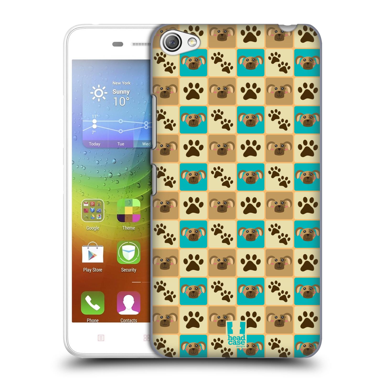 HEAD CASE pevný plastový obal na mobil LENOVO S60 / LENOVO S60 DUAL SIM vzor Zvířecí razítka PSÍ TLAPKA