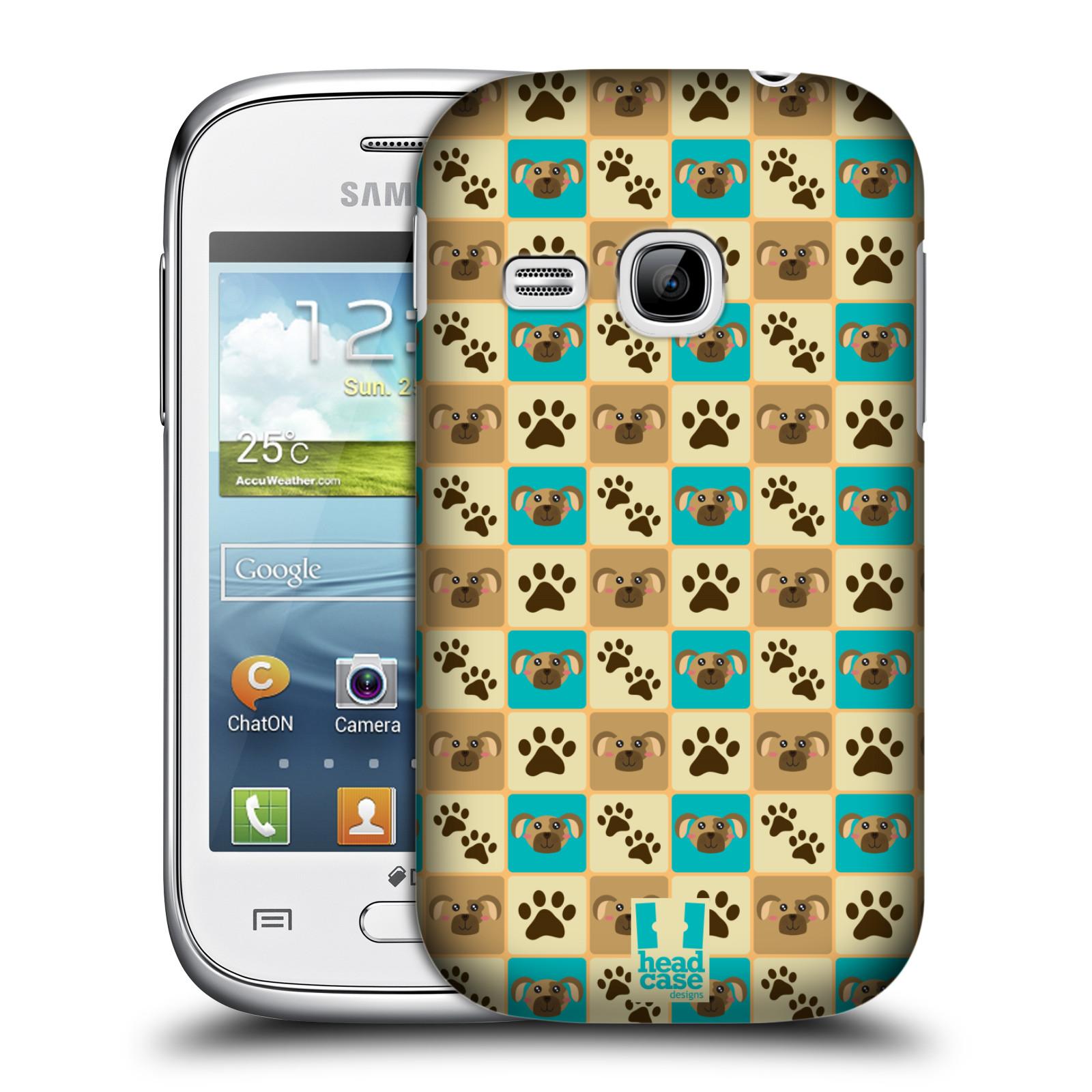 HEAD CASE plastový obal na mobil SAMSUNG Galaxy Young S6310 vzor Zvířecí razítka PSÍ TLAPKA