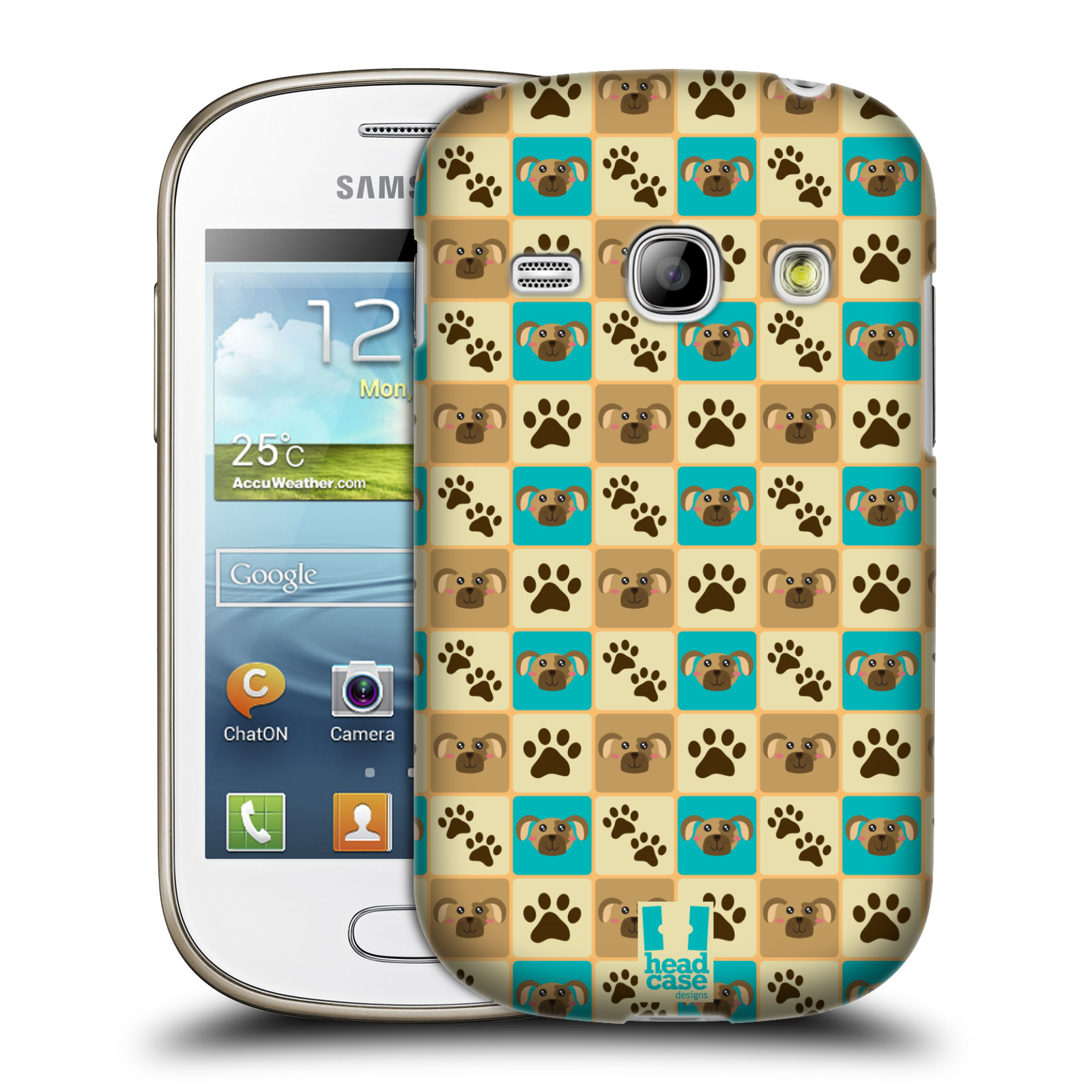 HEAD CASE plastový obal na mobil SAMSUNG GALAXY FAME (S6810) vzor Zvířecí razítka PSÍ TLAPKA
