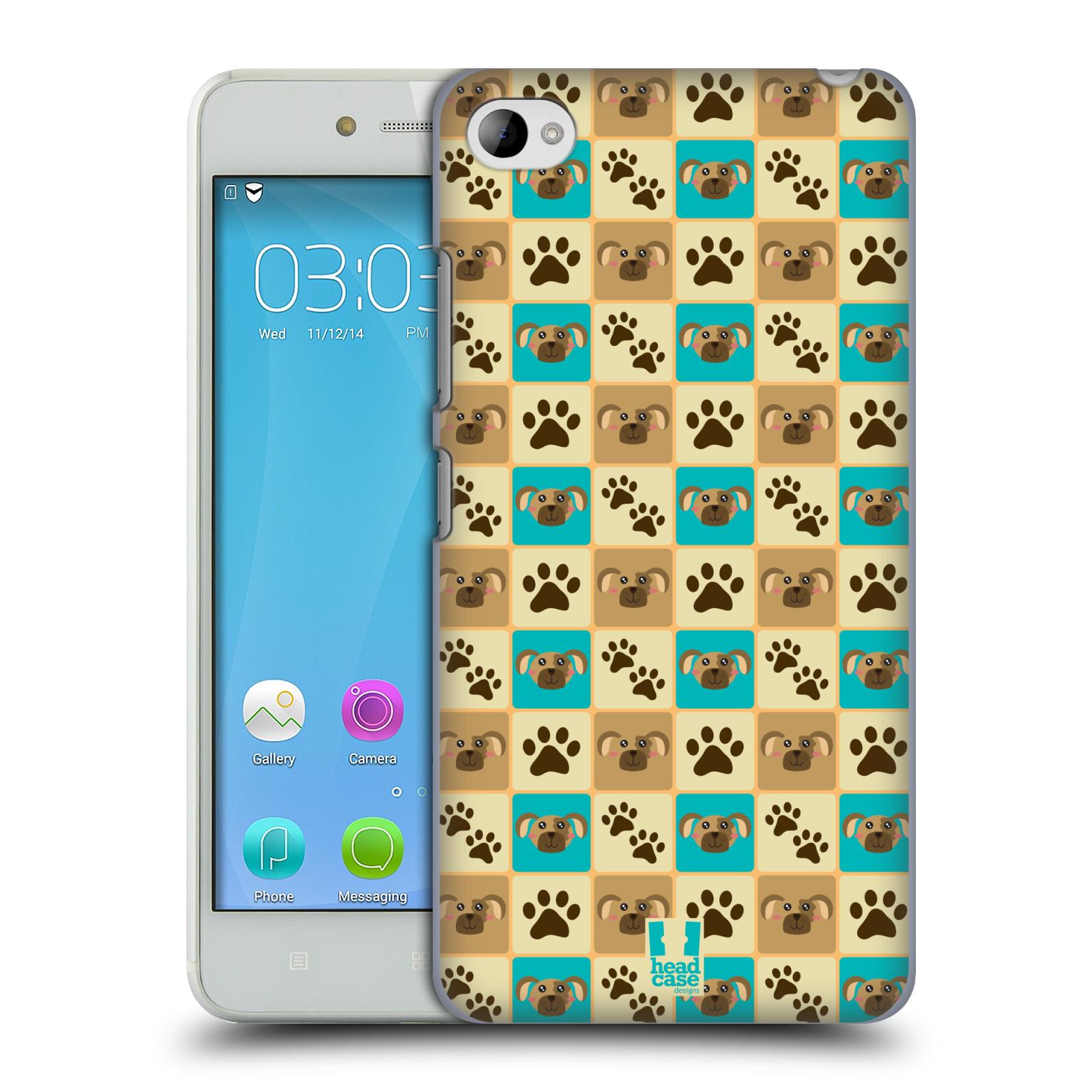 HEAD CASE pevný plastový obal na mobil LENOVO S90 vzor Zvířecí razítka PSÍ TLAPKA