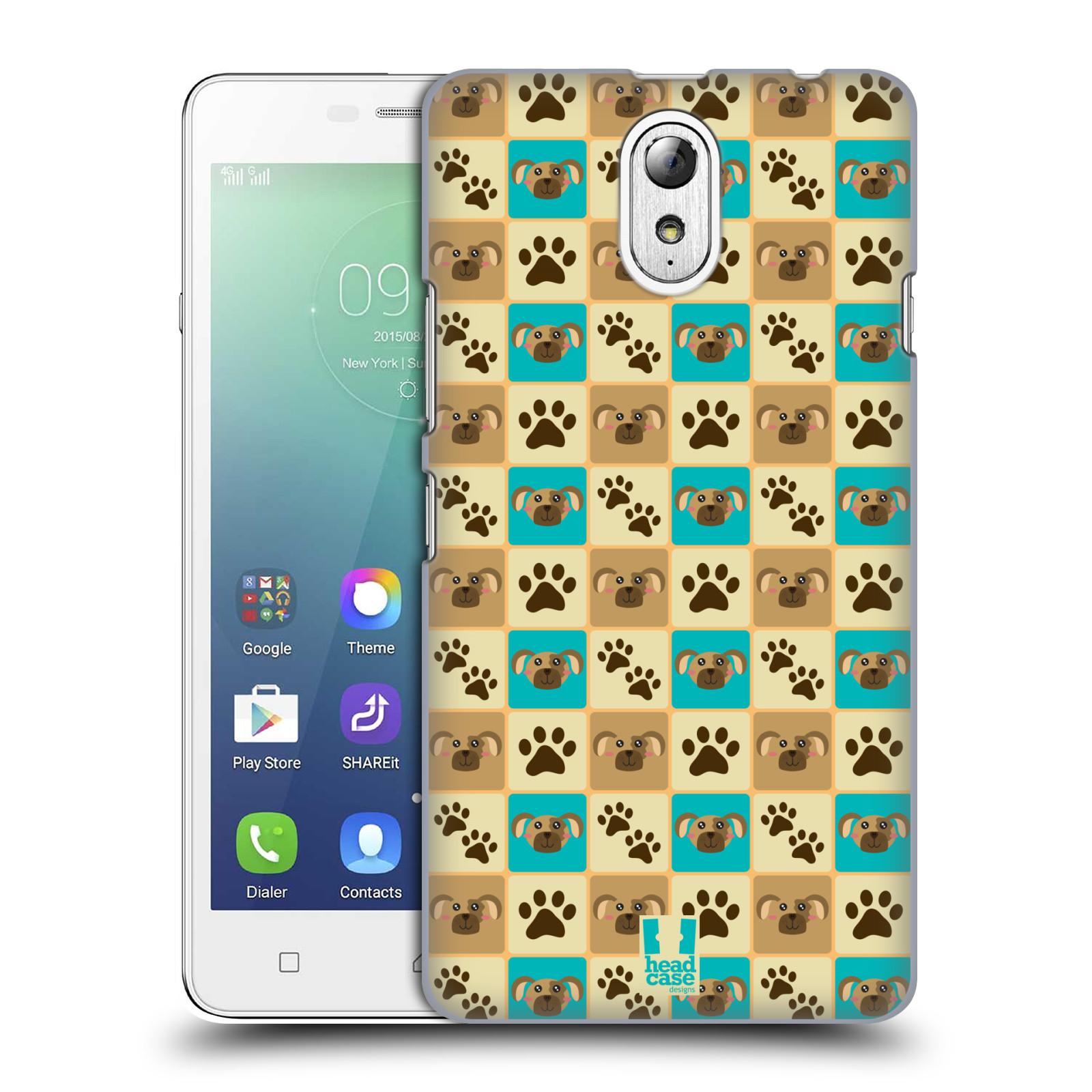 HEAD CASE pevný plastový obal na mobil LENOVO VIBE P1m / LENOVO VIBE p1m DUAL SIM vzor Zvířecí razítka PSÍ TLAPKA