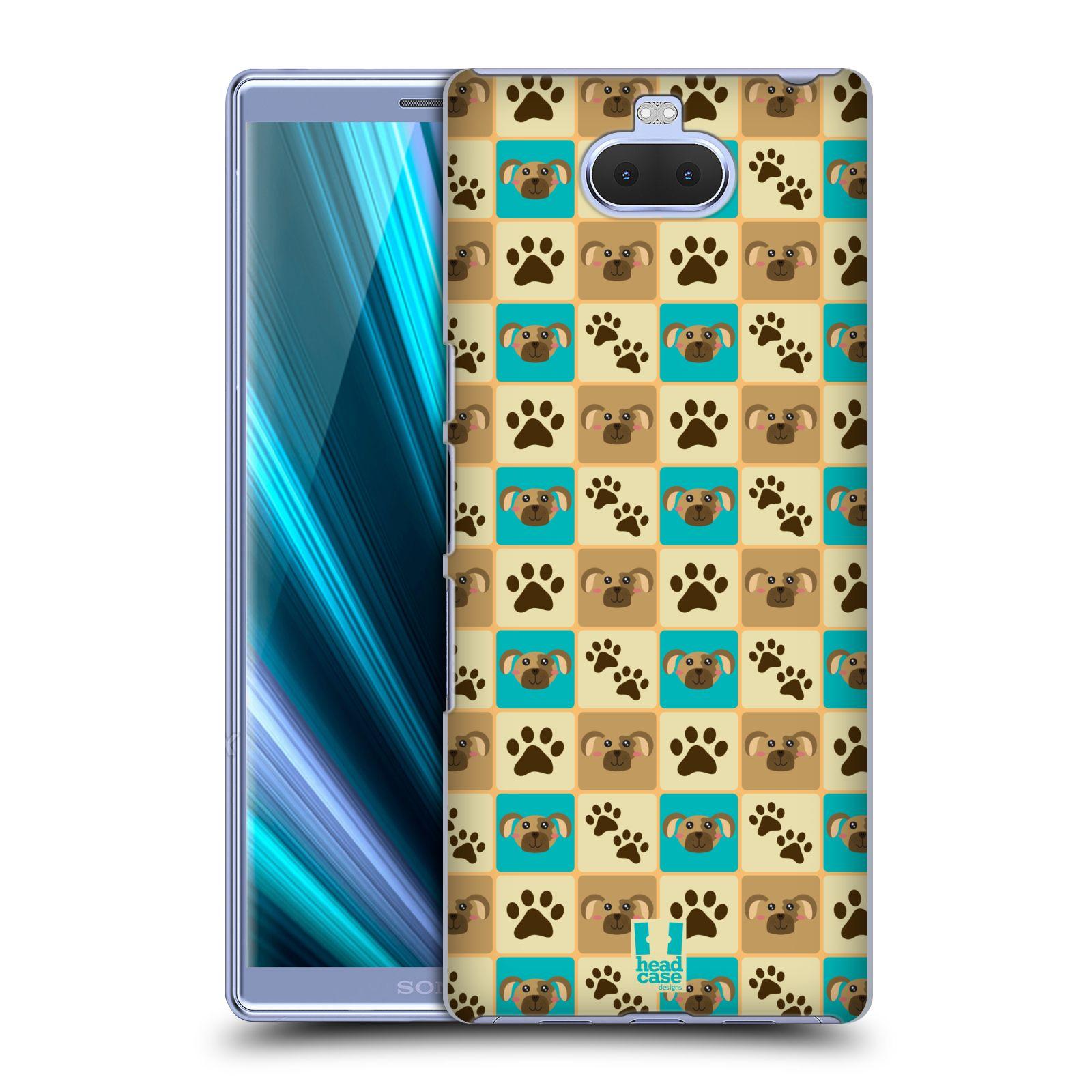 Pouzdro na mobil Sony Xperia 10 - Head Case - vzor Zvířecí razítka PSÍ TLAPKA