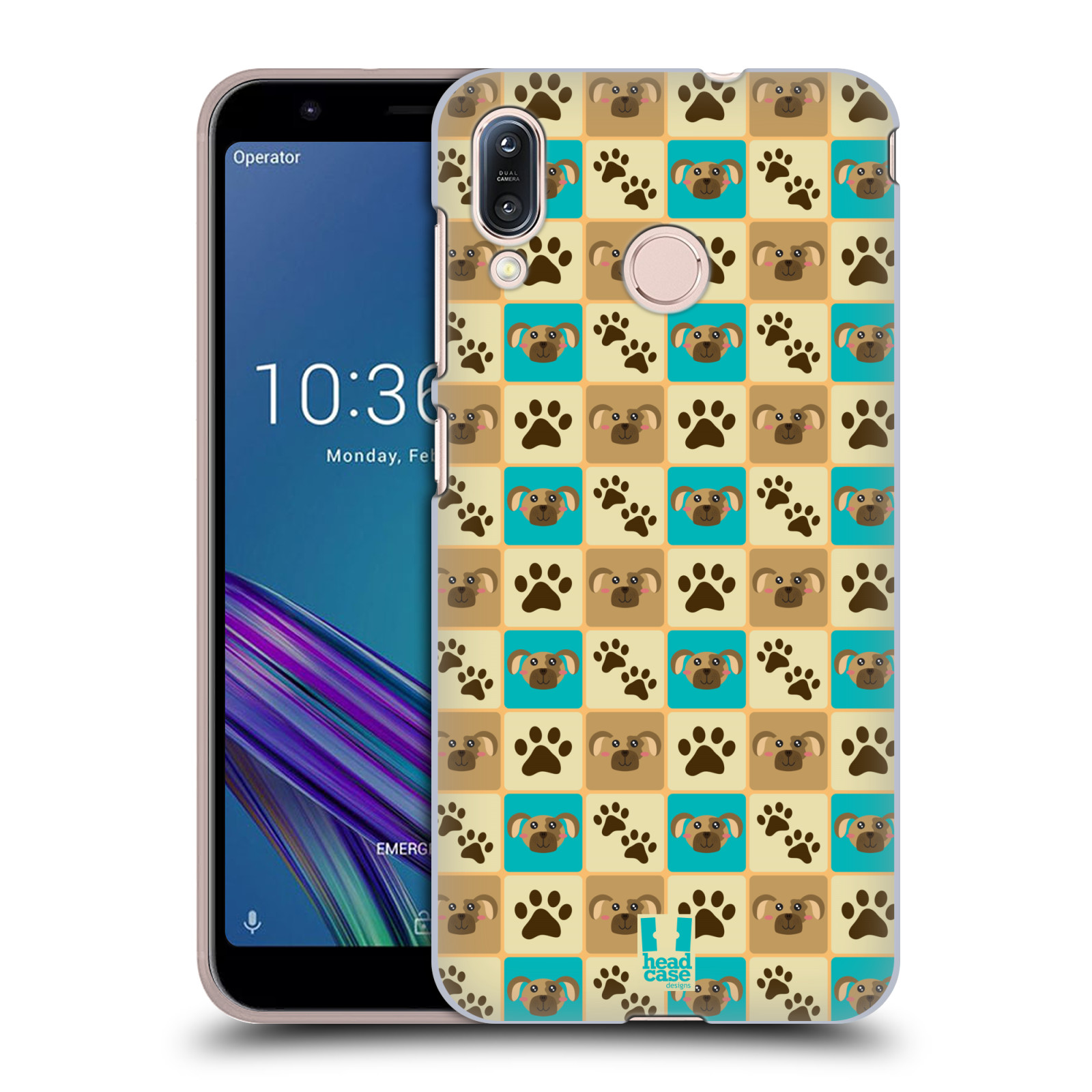 Pouzdro na mobil Asus Zenfone Max M1 (ZB555KL) - HEAD CASE - vzor Zvířecí razítka PSÍ TLAPKA