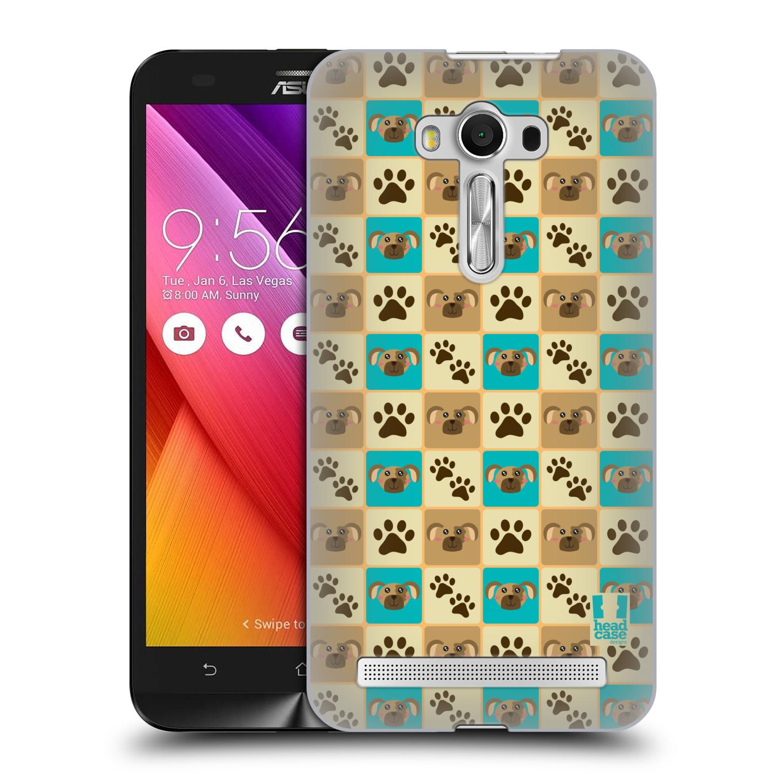 HEAD CASE plastový obal na mobil Asus Zenfone 2 LASER (5,5 displej ZE550KL) vzor Zvířecí razítka PSÍ TLAPKA
