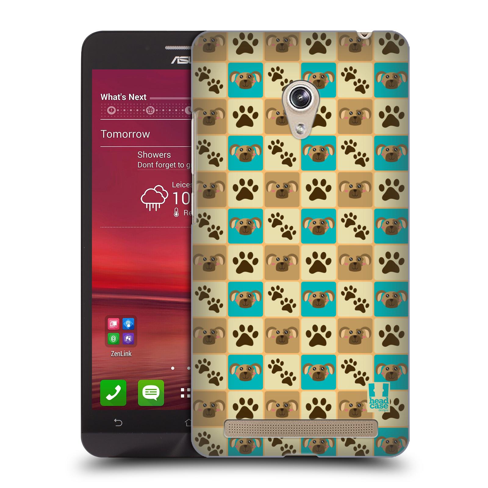 HEAD CASE plastový obal na mobil Asus Zenfone 6 vzor Zvířecí razítka PSÍ TLAPKA