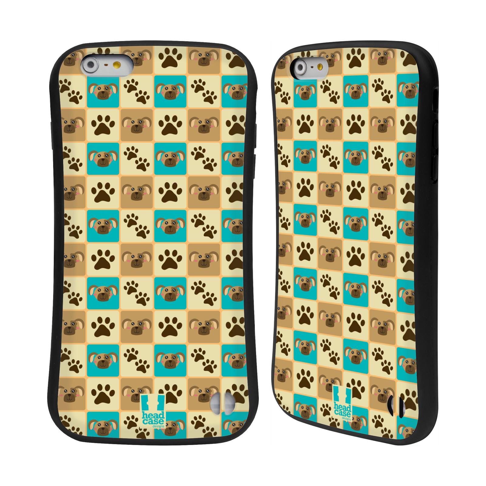 HEAD CASE silikon/plast odolný obal na mobil Apple Iphone 6 PLUS / 6S PLUS vzor Zvířecí razítka PSÍ TLAPKA