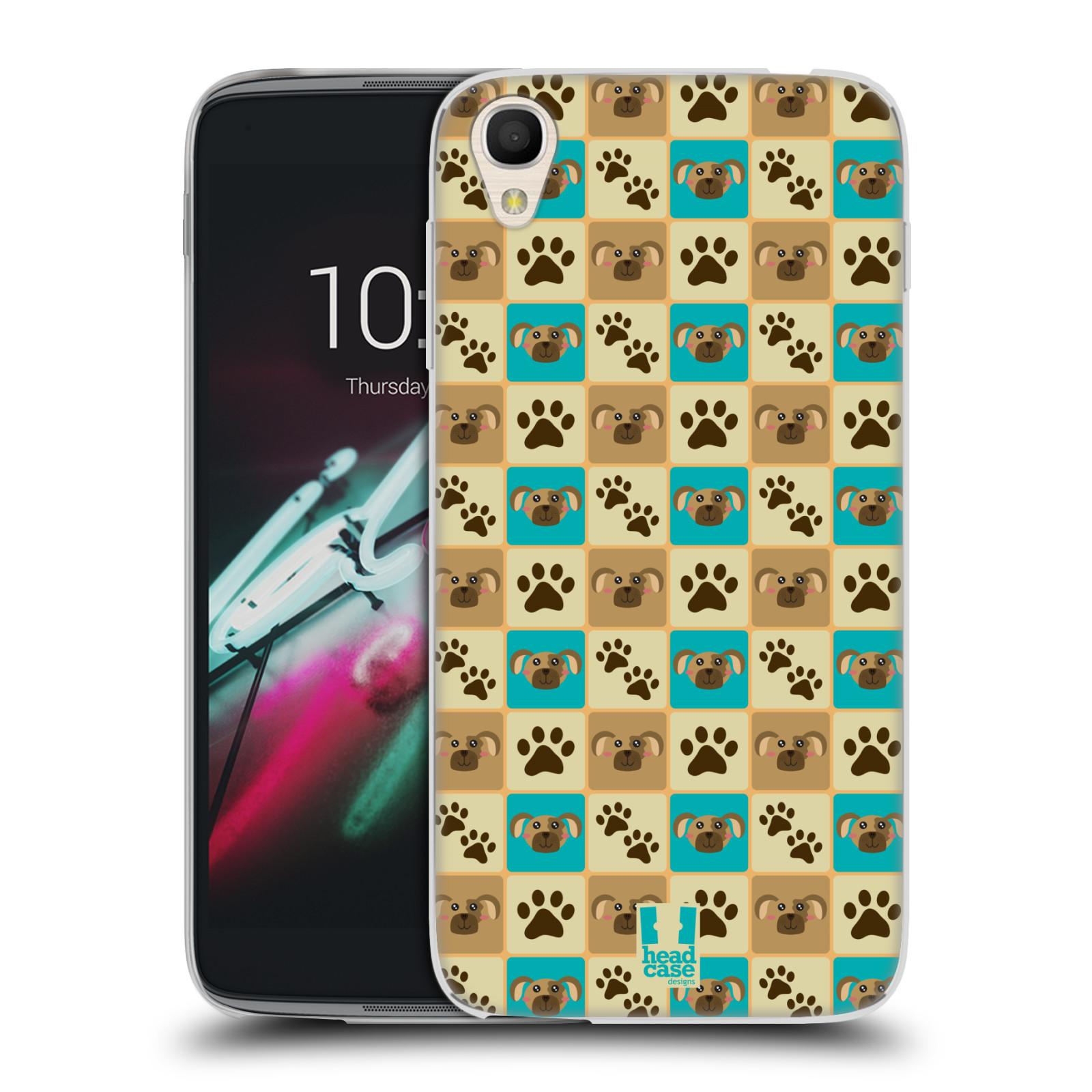 HEAD CASE silikonový obal na mobil Alcatel Idol 3 OT-6039Y (4.7) vzor Zvířecí razítka
