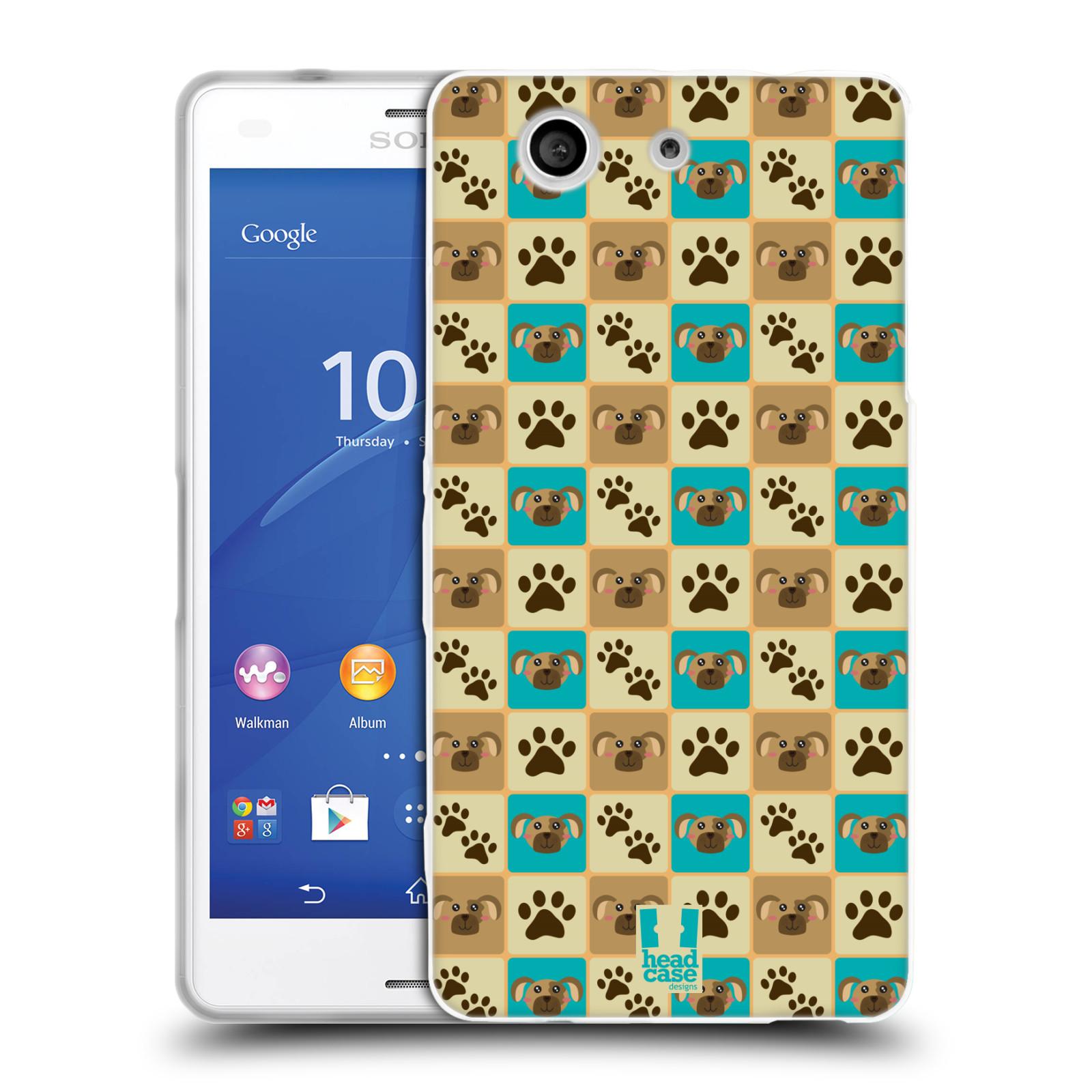HEAD CASE silikonový obal na mobil Sony Xperia Z3 COMPACT (D5803) vzor Zvířecí razítka PSÍ TLAPKA