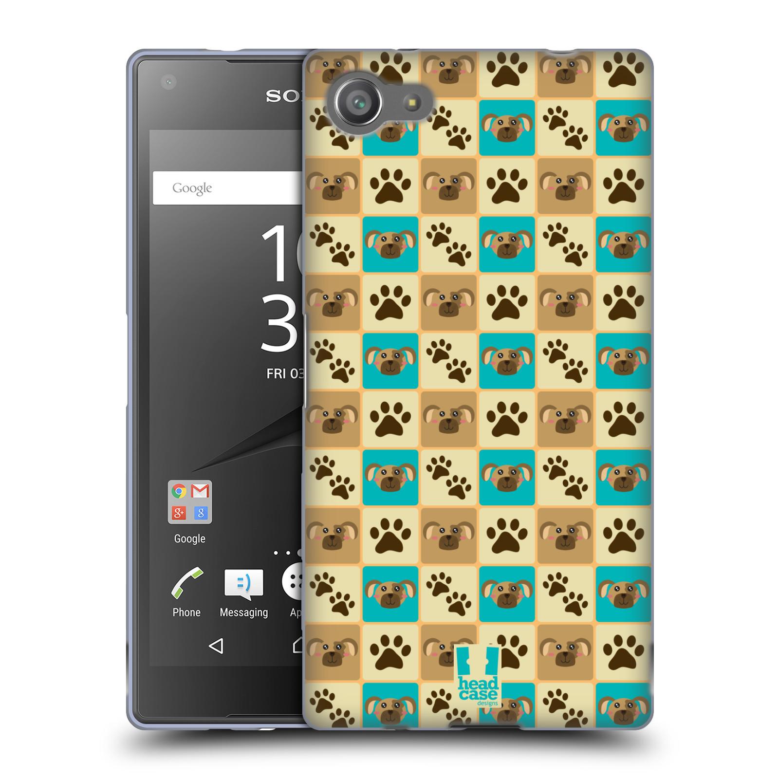 HEAD CASE silikonový obal na mobil Sony Xperia Z5 COMPACT vzor Zvířecí razítka PSÍ TLAPKA