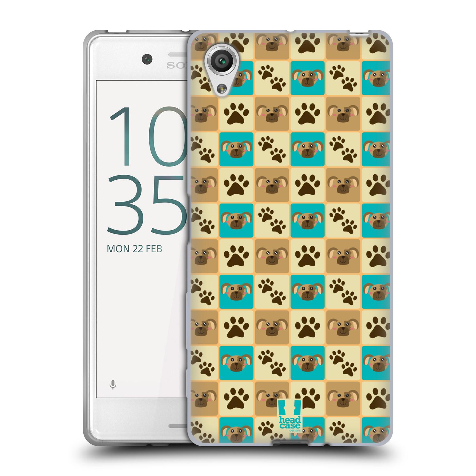 HEAD CASE silikonový obal na mobil Sony Xperia X / X DUAL vzor Zvířecí razítka PSÍ TLAPKA