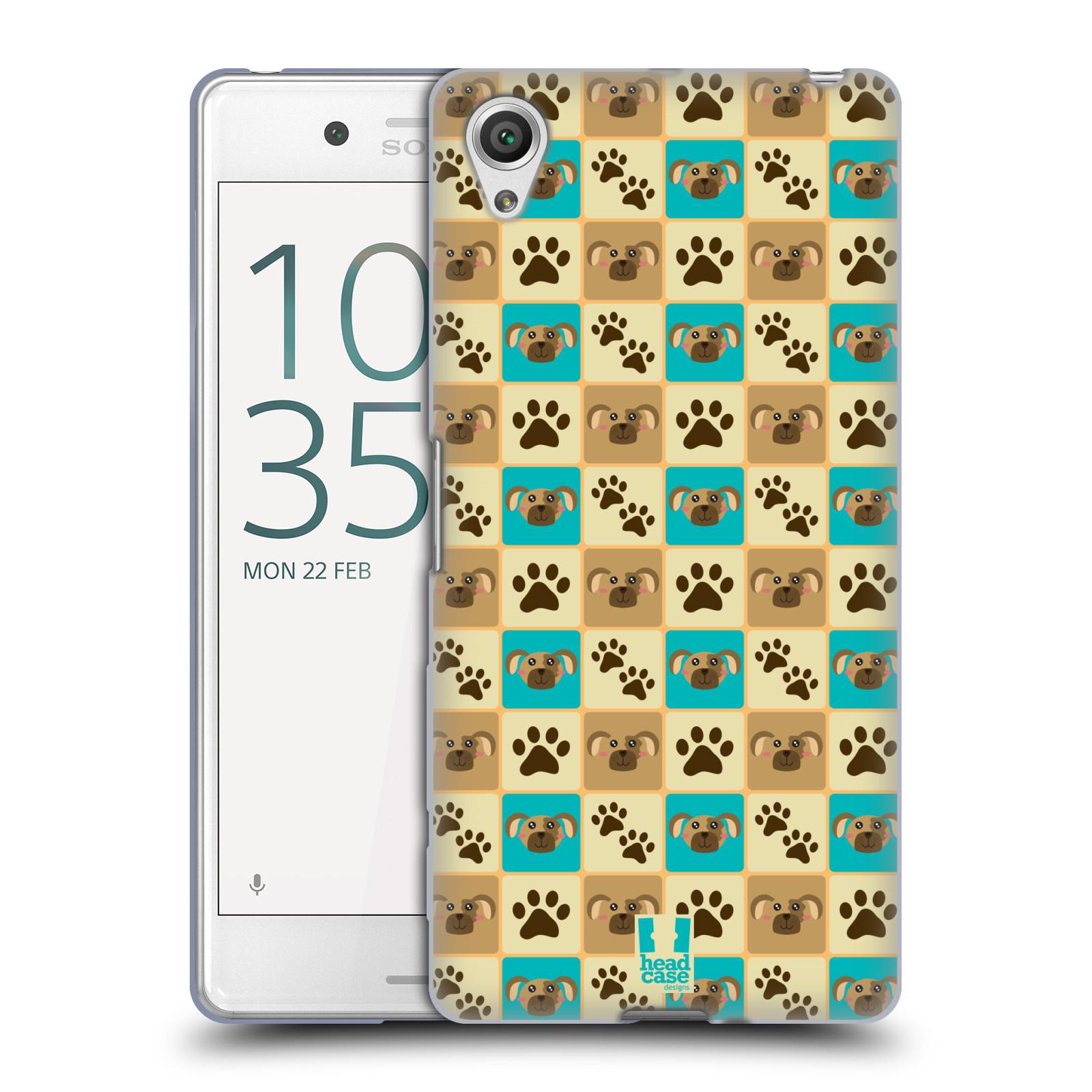 HEAD CASE silikonový obal na mobil Sony Xperia X PERFORMANCE (F8131, F8132) vzor Zvířecí razítka PSÍ TLAPKA