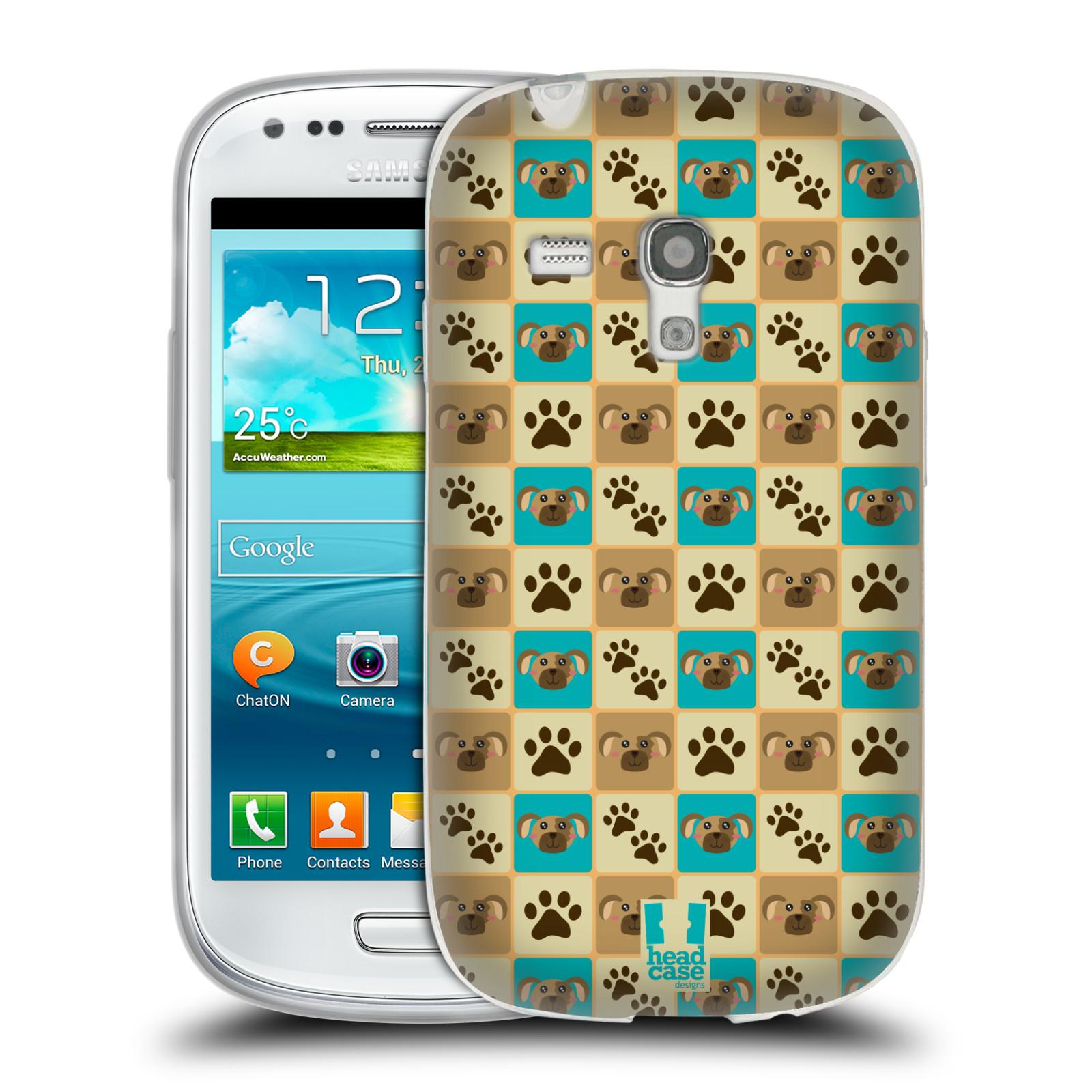 HEAD CASE silikonový obal na mobil Samsung Galaxy S3 MINI i8190 vzor Zvířecí razítka PSÍ TLAPKA