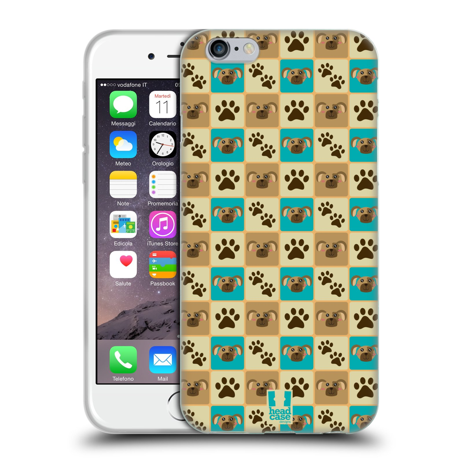 HEAD CASE silikonový obal na mobil Apple Iphone 6/6S vzor Zvířecí razítka