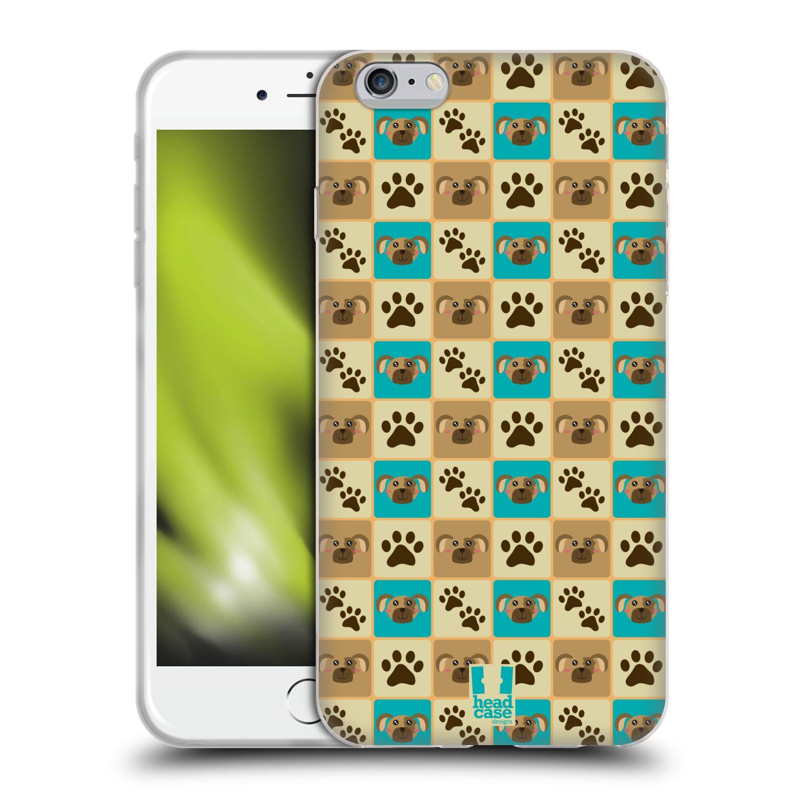 HEAD CASE silikonový obal na mobil Apple Iphone 6 PLUS/ 6S PLUS vzor Zvířecí razítka PSÍ TLAPKA