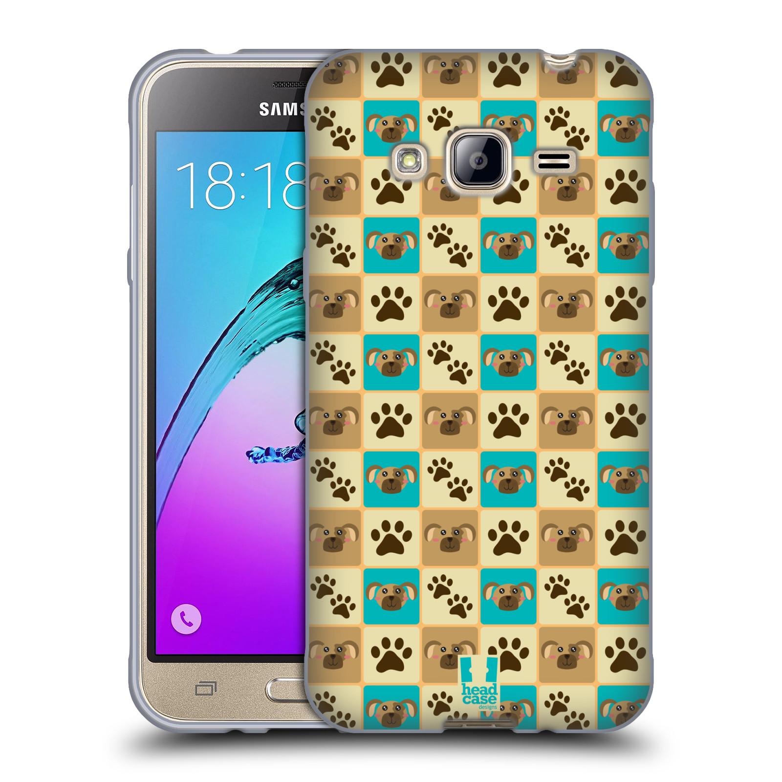 HEAD CASE silikonový obal na mobil Samsung Galaxy J3, J3 2016 vzor Zvířecí razítka PSÍ TLAPKA