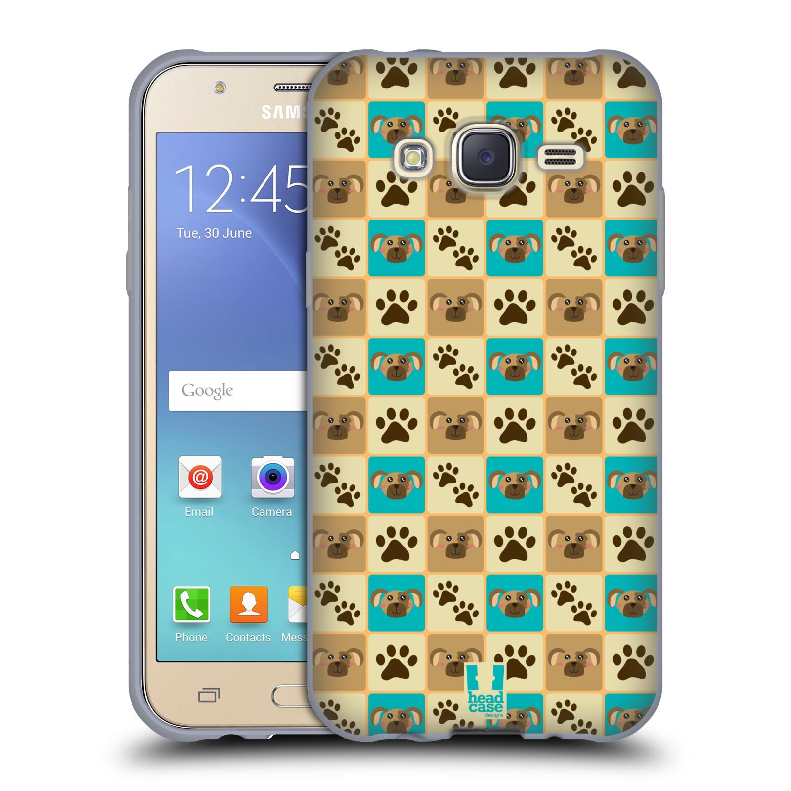 HEAD CASE silikonový obal na mobil Samsung Galaxy J5, J500, (J5 DUOS) vzor Zvířecí razítka PSÍ TLAPKA