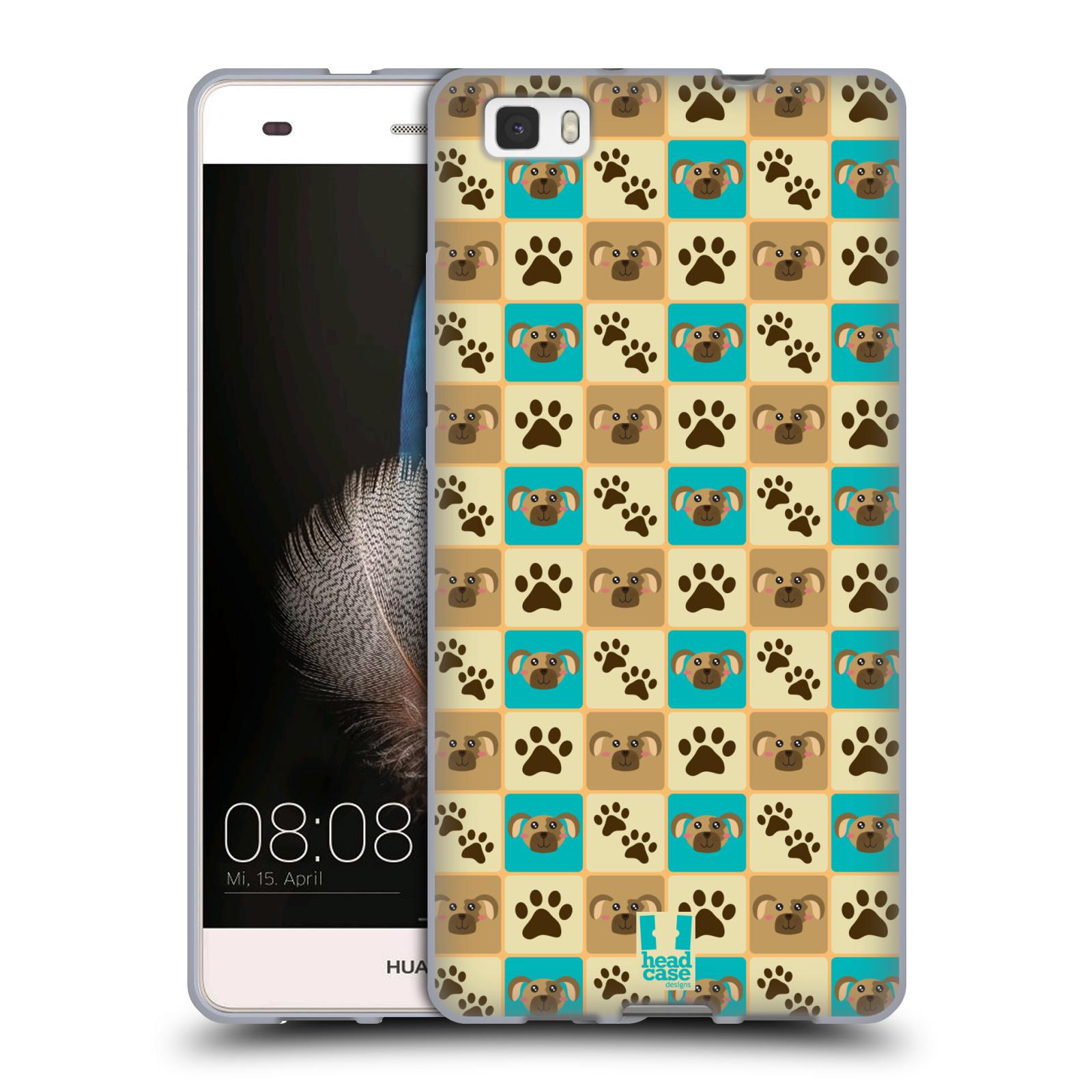 HEAD CASE silikonový obal na mobil HUAWEI P8 LITE vzor Zvířecí razítka PSÍ TLAPKA