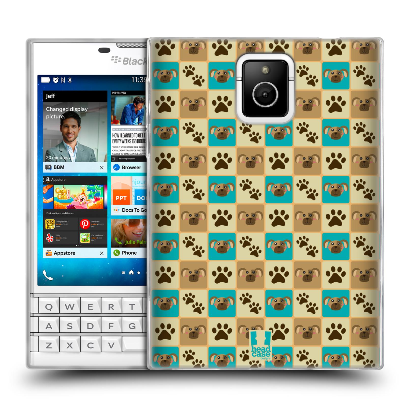 HEAD CASE silikonový obal na mobil Blackberry PASSPORT vzor Zvířecí razítka PSÍ TLAPKA