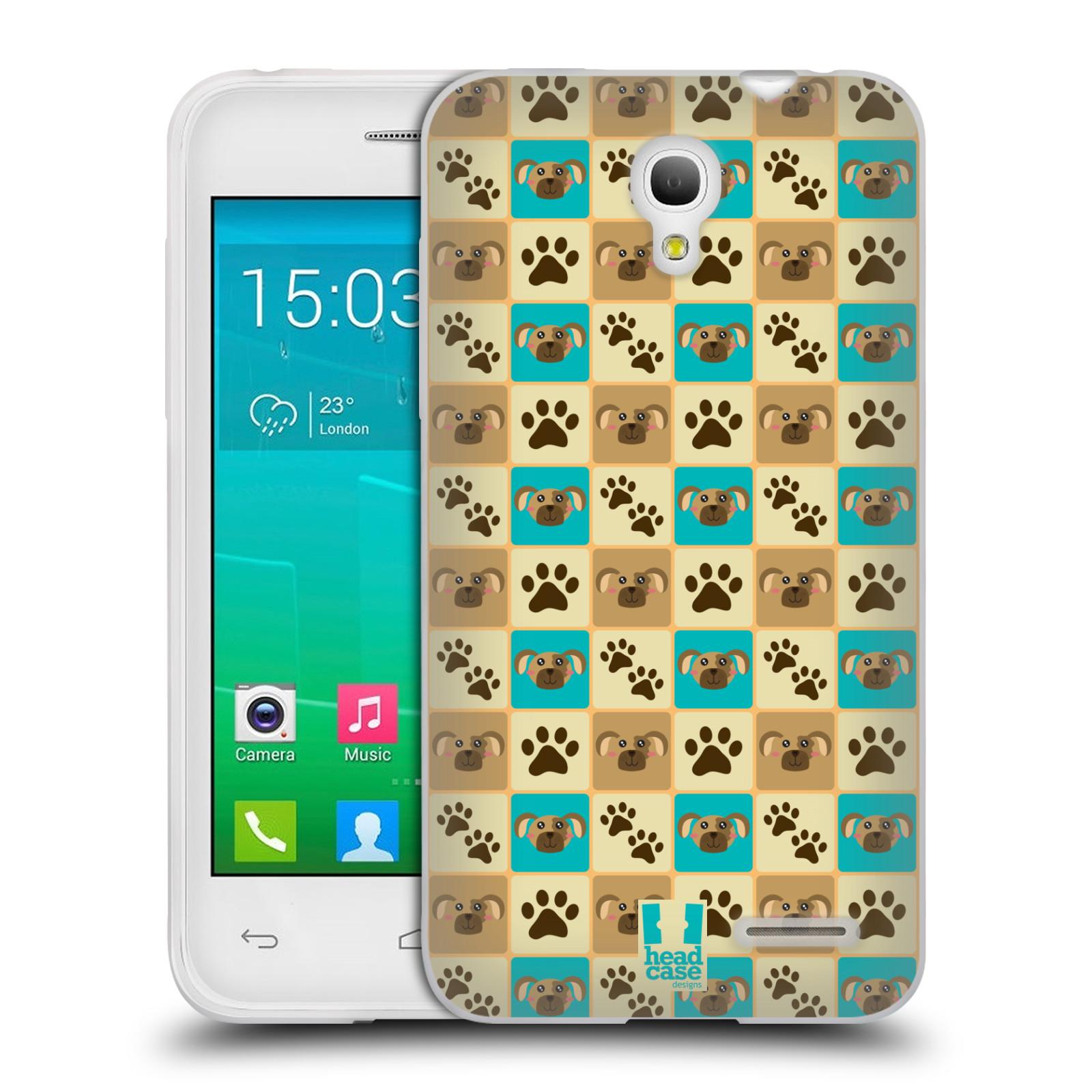 HEAD CASE silikonový obal na mobil Alcatel POP S3 OT-5050Y vzor Zvířecí razítka