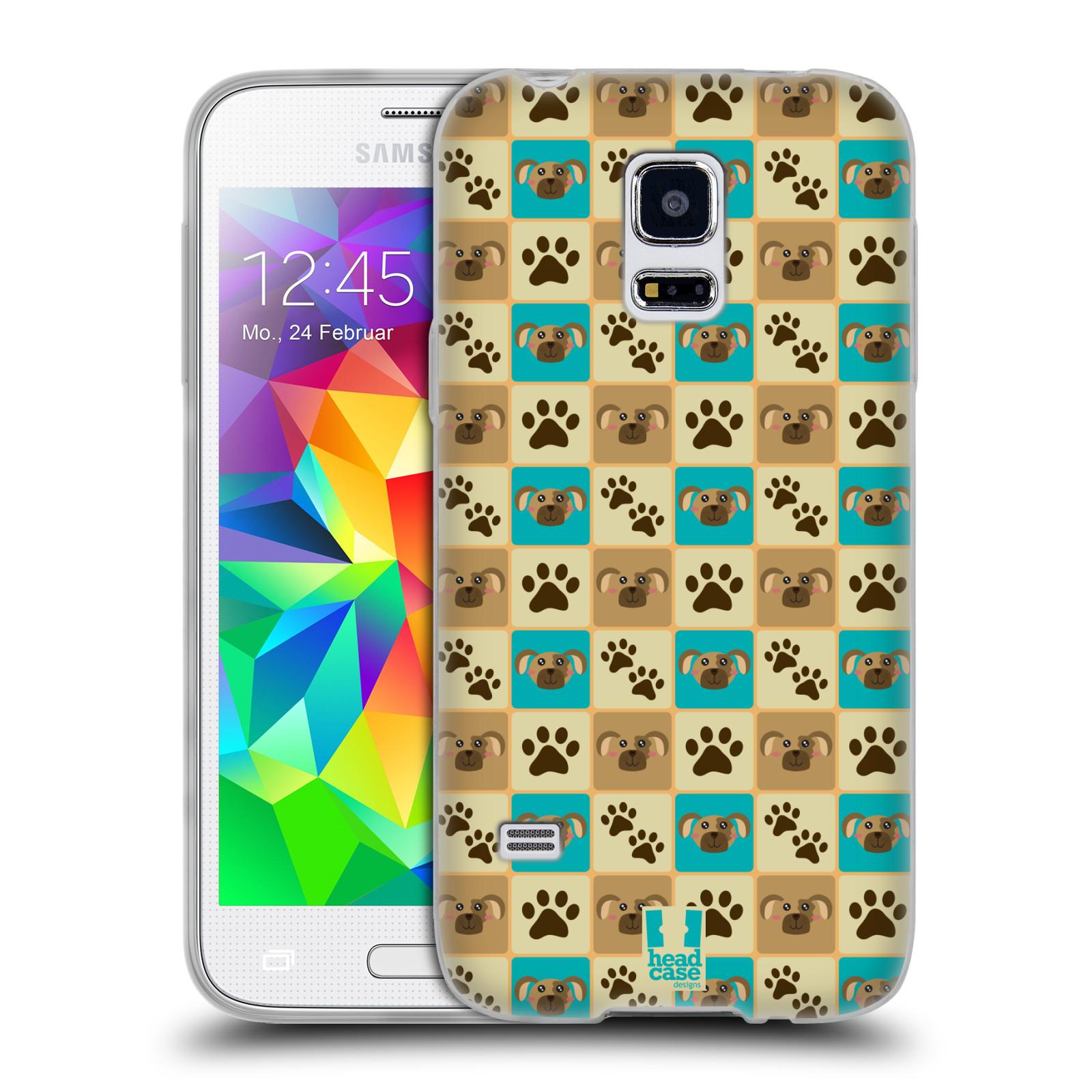HEAD CASE silikonový obal na mobil Samsung Galaxy S5 MINI vzor Zvířecí razítka PSÍ TLAPKA