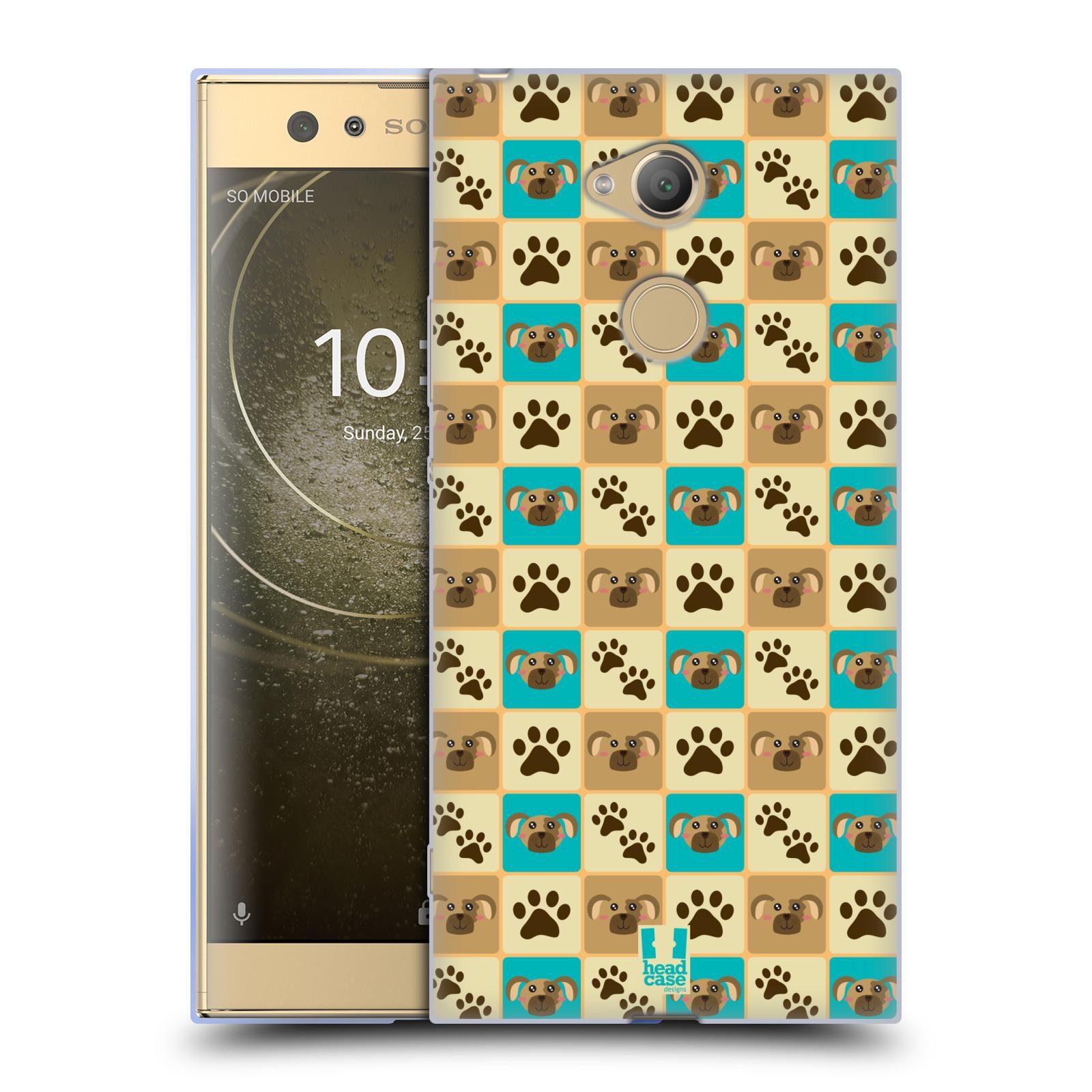 Pouzdro na mobil Sony Xperia XA2 Ultra vzor Zvířecí razítka PSÍ TLAPKA