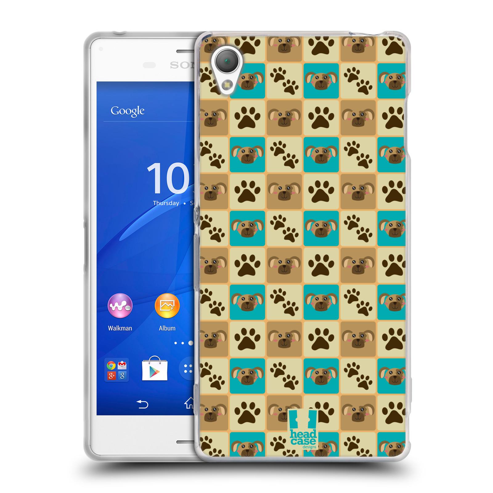 HEAD CASE silikonový obal na mobil Sony Xperia Z3 vzor Zvířecí razítka PSÍ TLAPKA