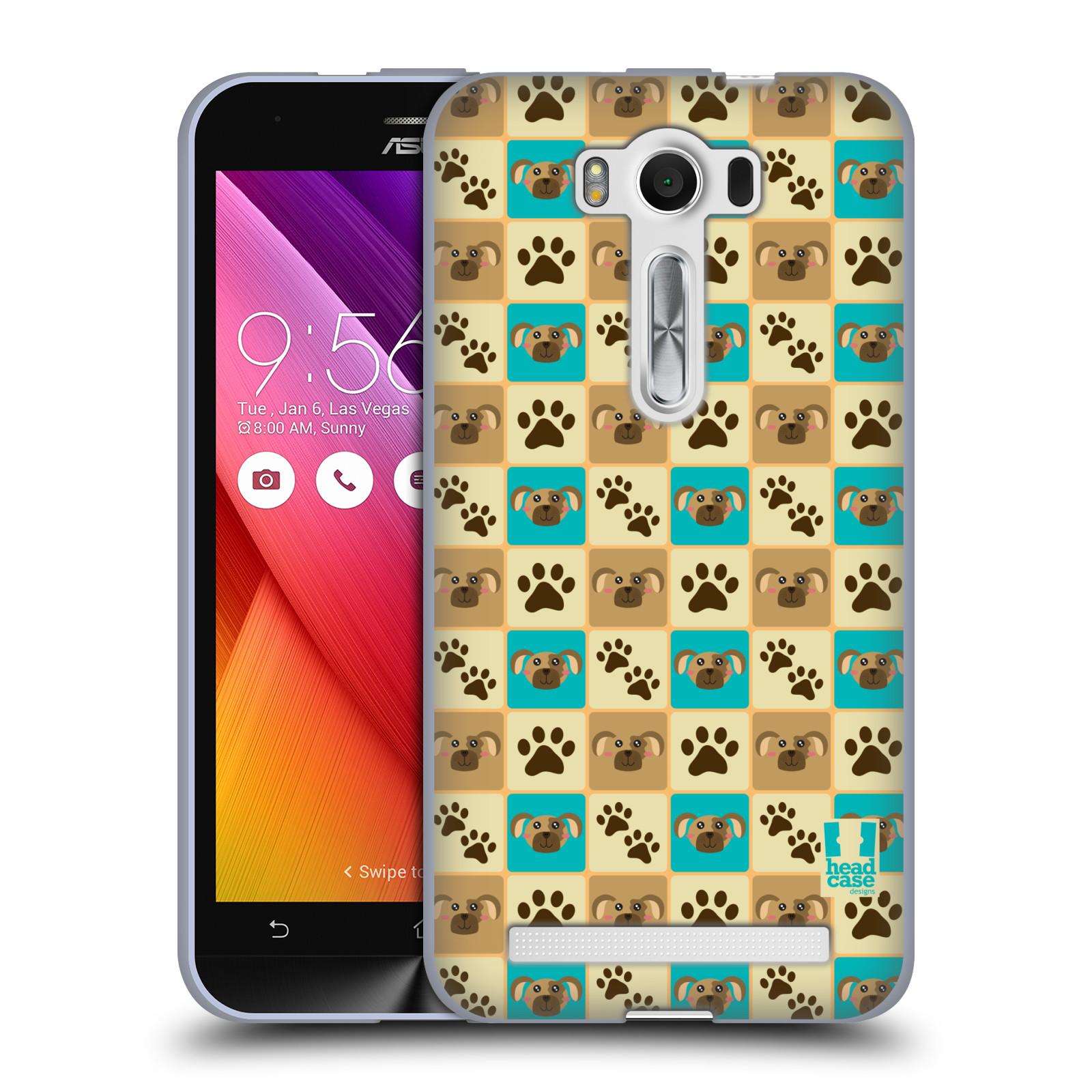"""HEAD CASE silikonový obal na mobil Asus Zenfone 2 LASER (ZE500KL s 5"""" displejem) vzor Zvířecí razítka PSÍ TLAPKA"""