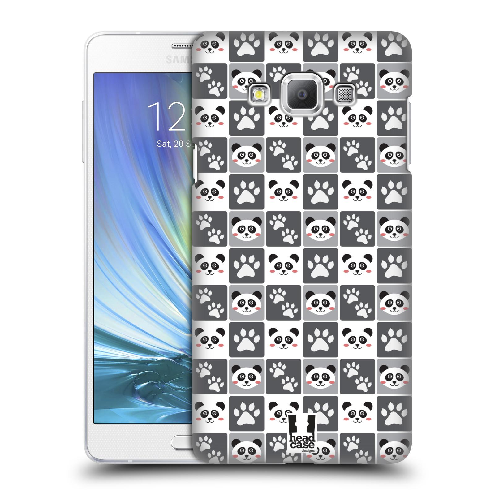 HEAD CASE plastový obal na mobil SAMSUNG GALAXY A7 vzor Zvířecí razítka MEDVÍDEK PANDA