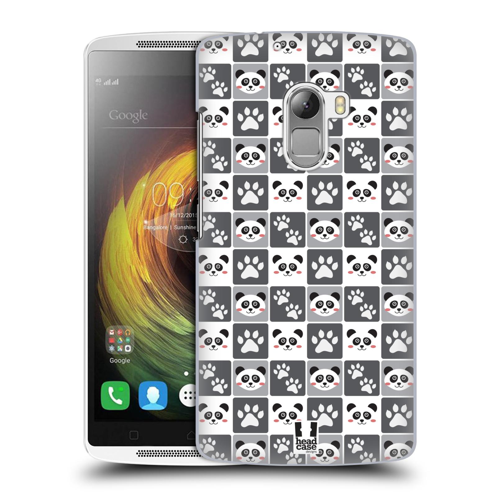 HEAD CASE pevný plastový obal na mobil LENOVO A7010 / A7010 DUAL / K4 Note / Vibe X3 lite vzor Zvířecí razítka MEDVÍDEK PANDA
