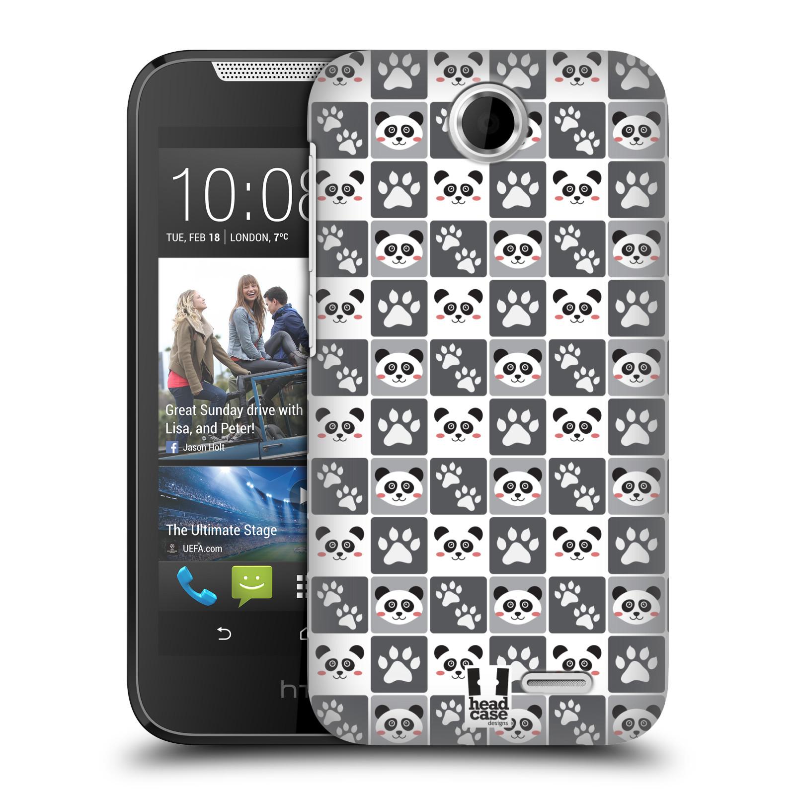 HEAD CASE plastový obal na mobil HTC Desire 310 vzor Zvířecí razítka MEDVÍDEK PANDA
