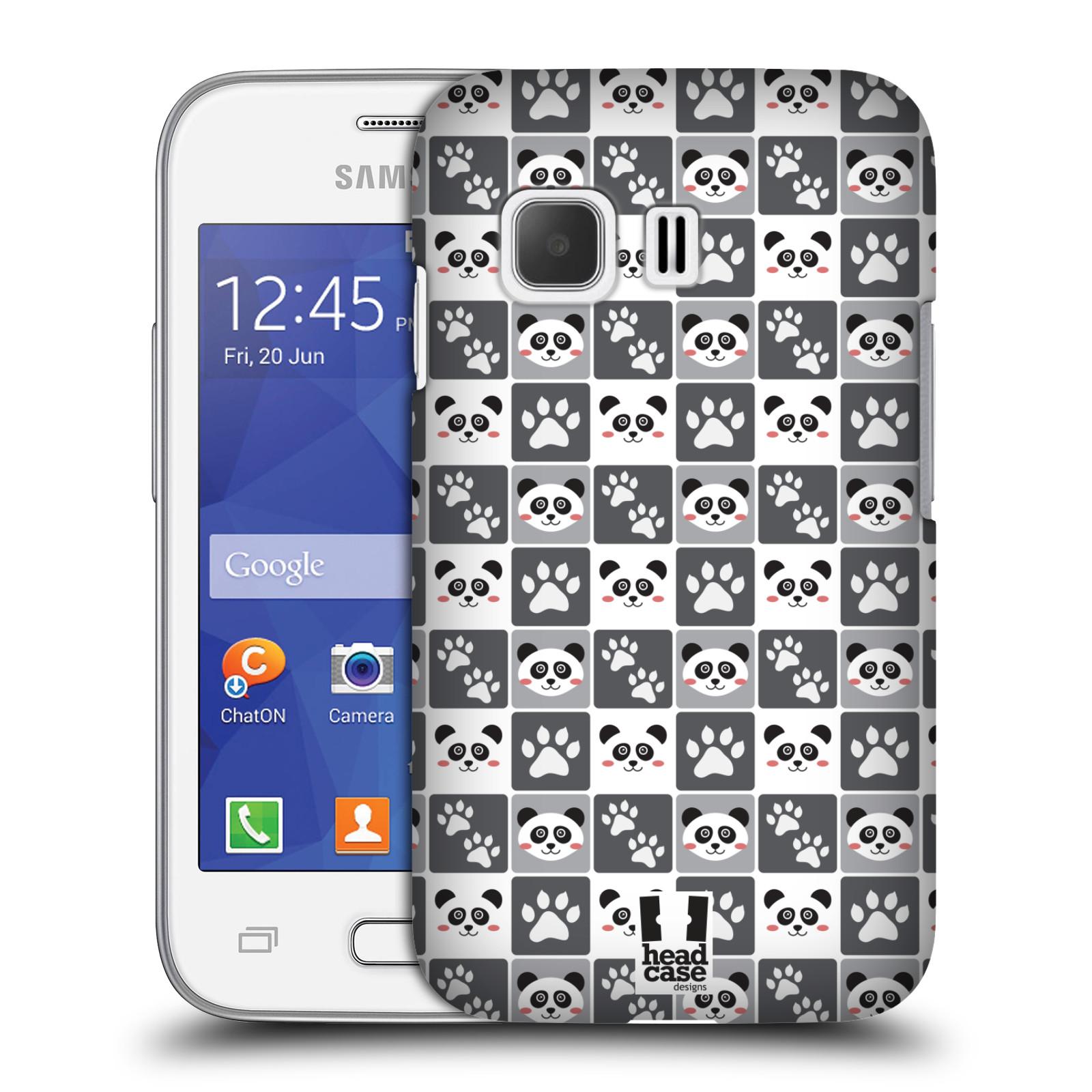 HEAD CASE plastový obal na mobil SAMSUNG Galaxy Young 2 (G130) vzor Zvířecí razítka MEDVÍDEK PANDA