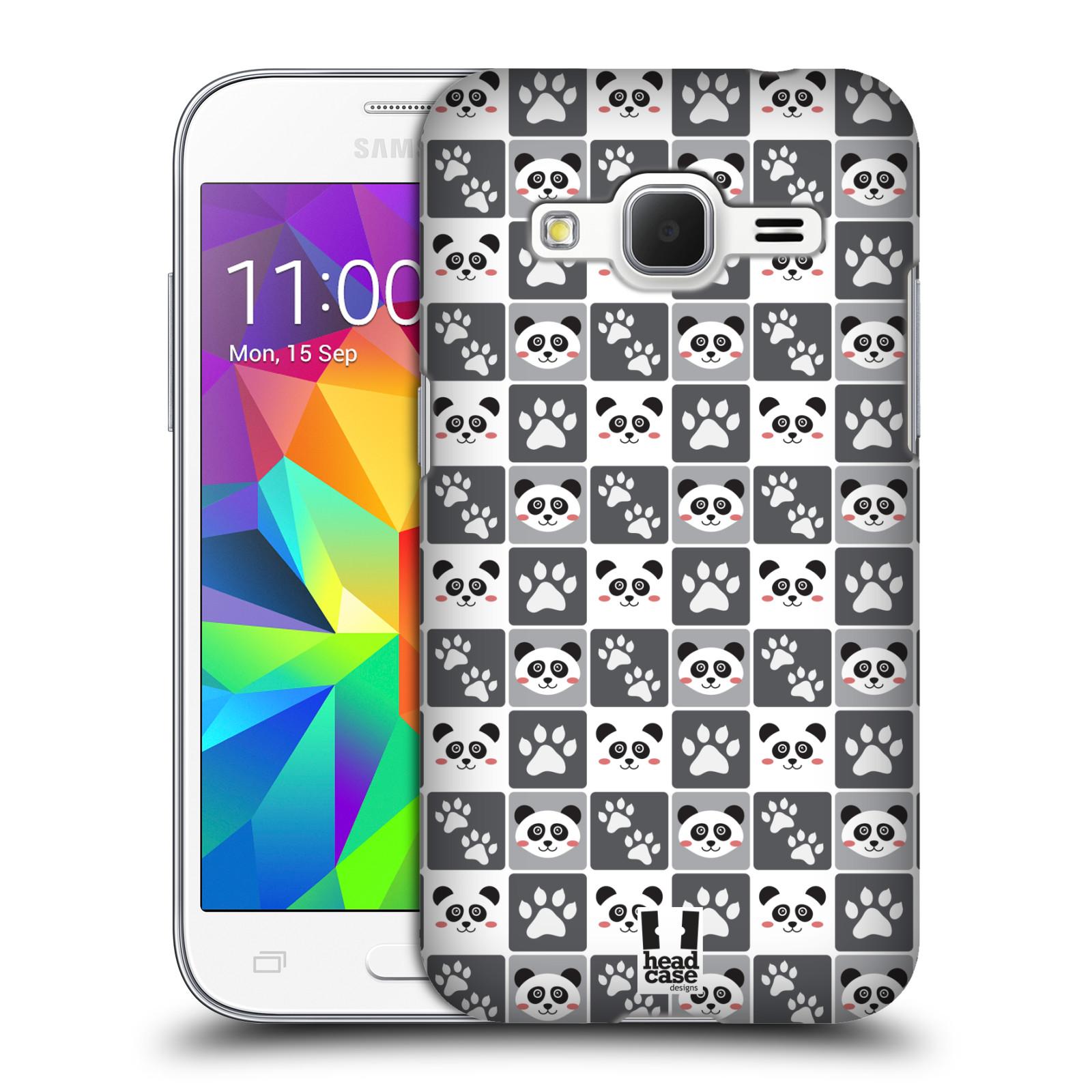HEAD CASE plastový obal na mobil SAMSUNG GALAXY Core Prime (Core Prime VE) vzor Zvířecí razítka MEDVÍDEK PANDA