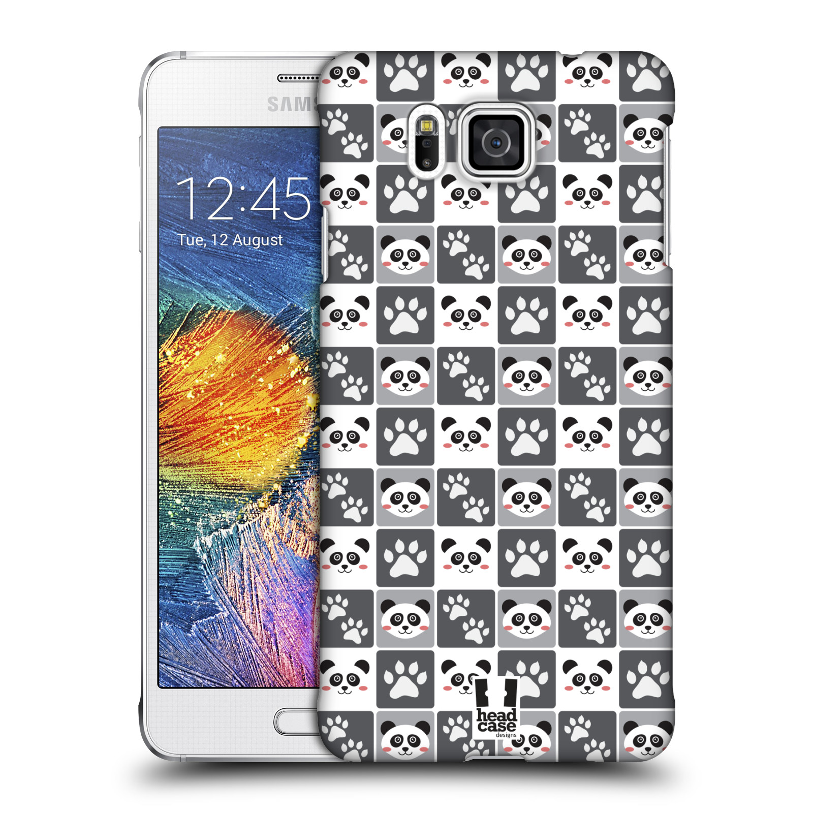 HEAD CASE plastový obal na mobil SAMSUNG Galaxy Alpha (G850) vzor Zvířecí razítka MEDVÍDEK PANDA