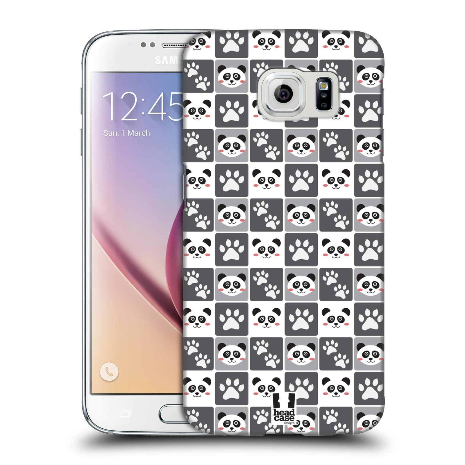HEAD CASE plastový obal na mobil SAMSUNG Galaxy S6 (G9200, G920F) vzor Zvířecí razítka MEDVÍDEK PANDA