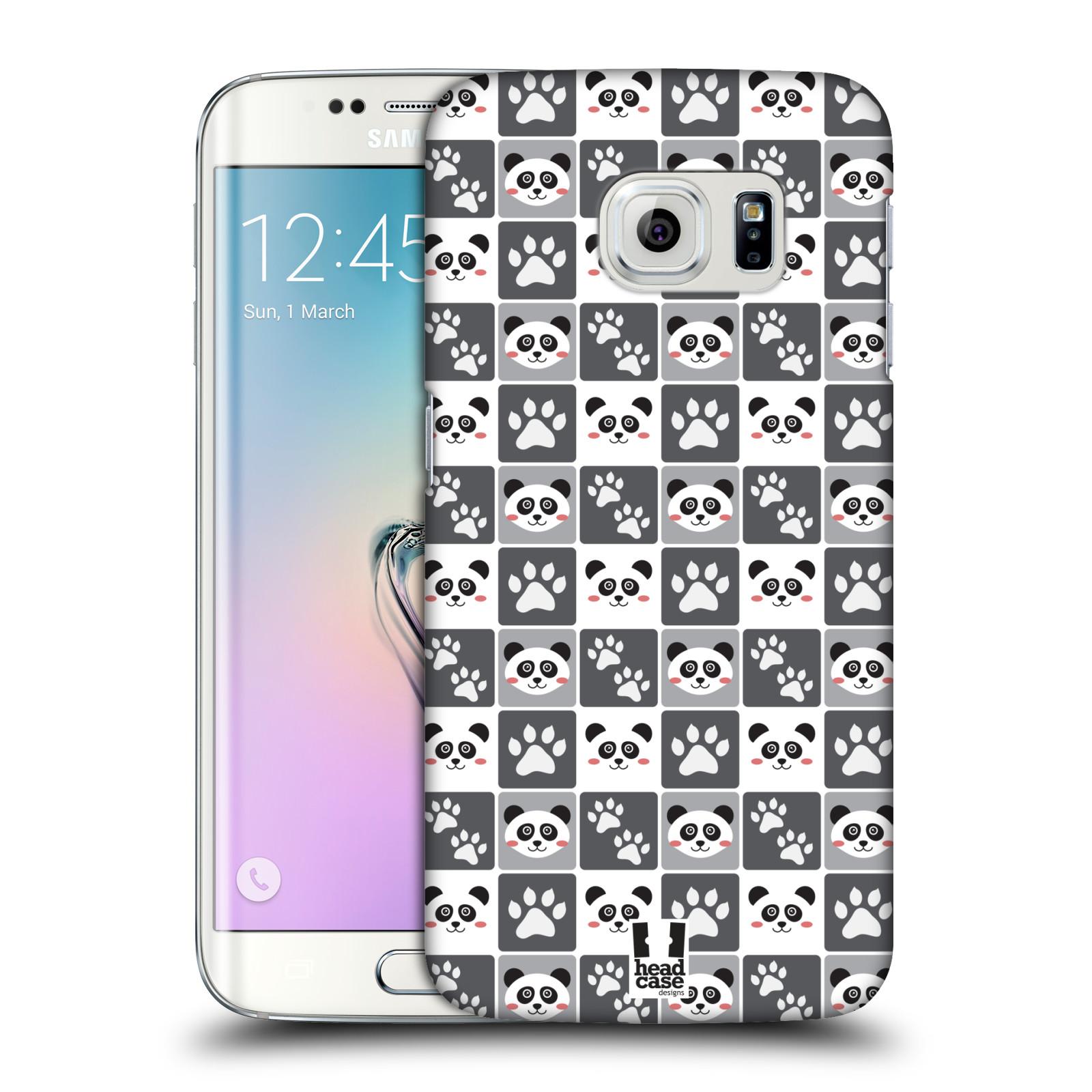 HEAD CASE plastový obal na mobil SAMSUNG Galaxy S6 EDGE (G9250, G925, G925F) vzor Zvířecí razítka MEDVÍDEK PANDA
