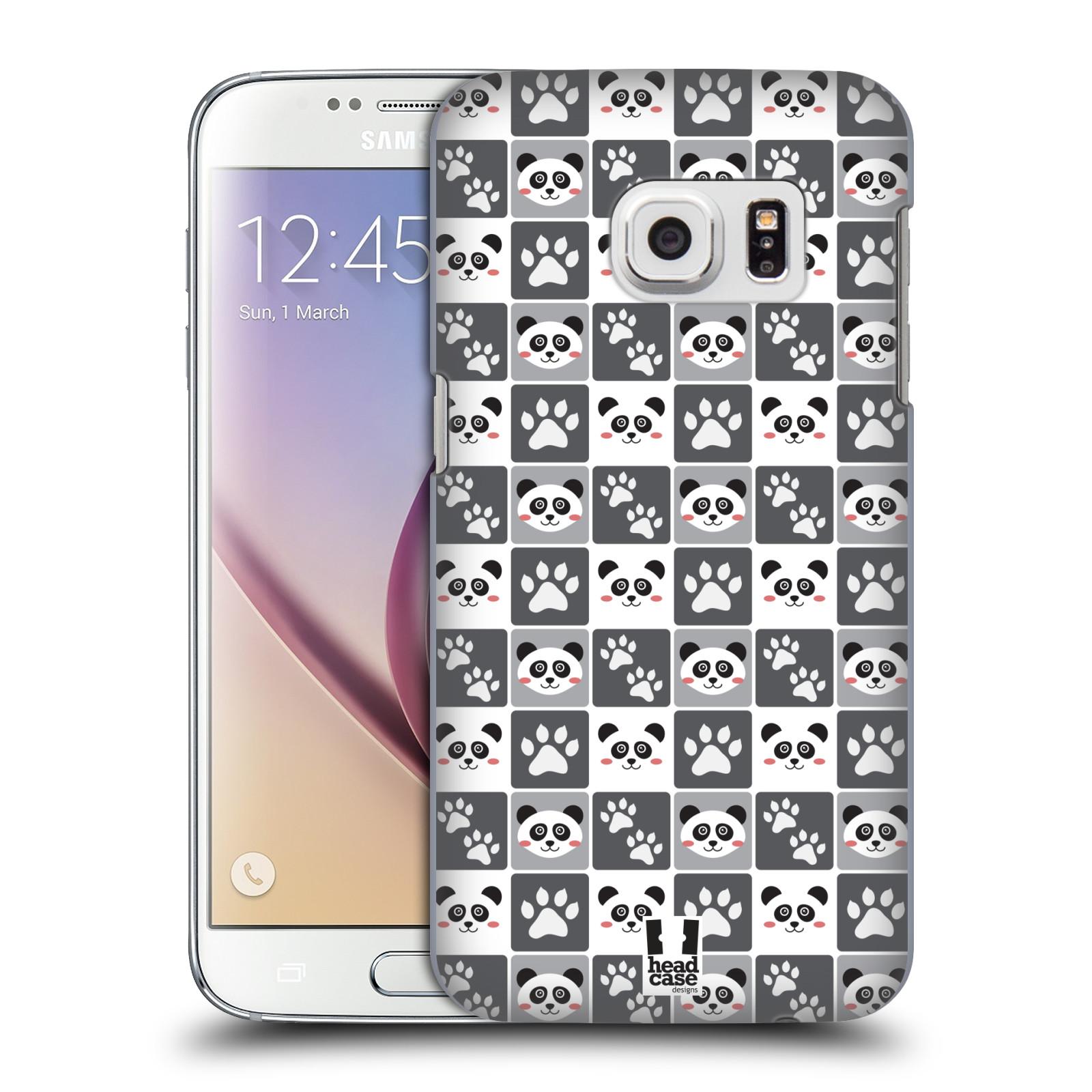 HEAD CASE plastový obal na mobil SAMSUNG GALAXY S7 vzor Zvířecí razítka MEDVÍDEK PANDA